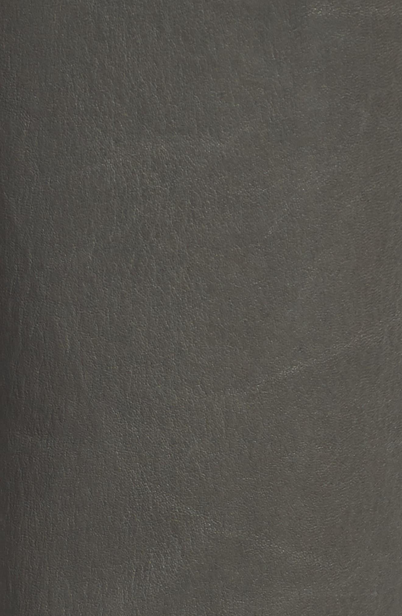 'Maria' Lambskin Leather Leggings,                             Alternate thumbnail 3, color,                             Granite