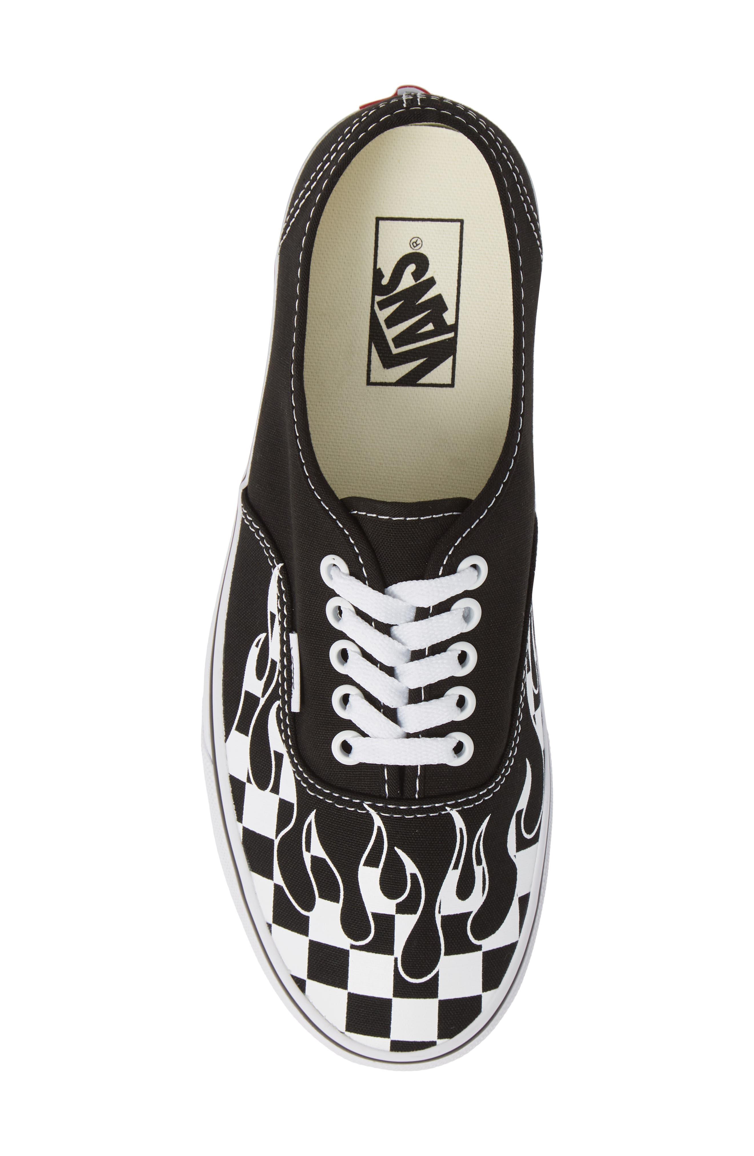 Authentic Sneaker,                             Alternate thumbnail 4, color,                             Black/ True White