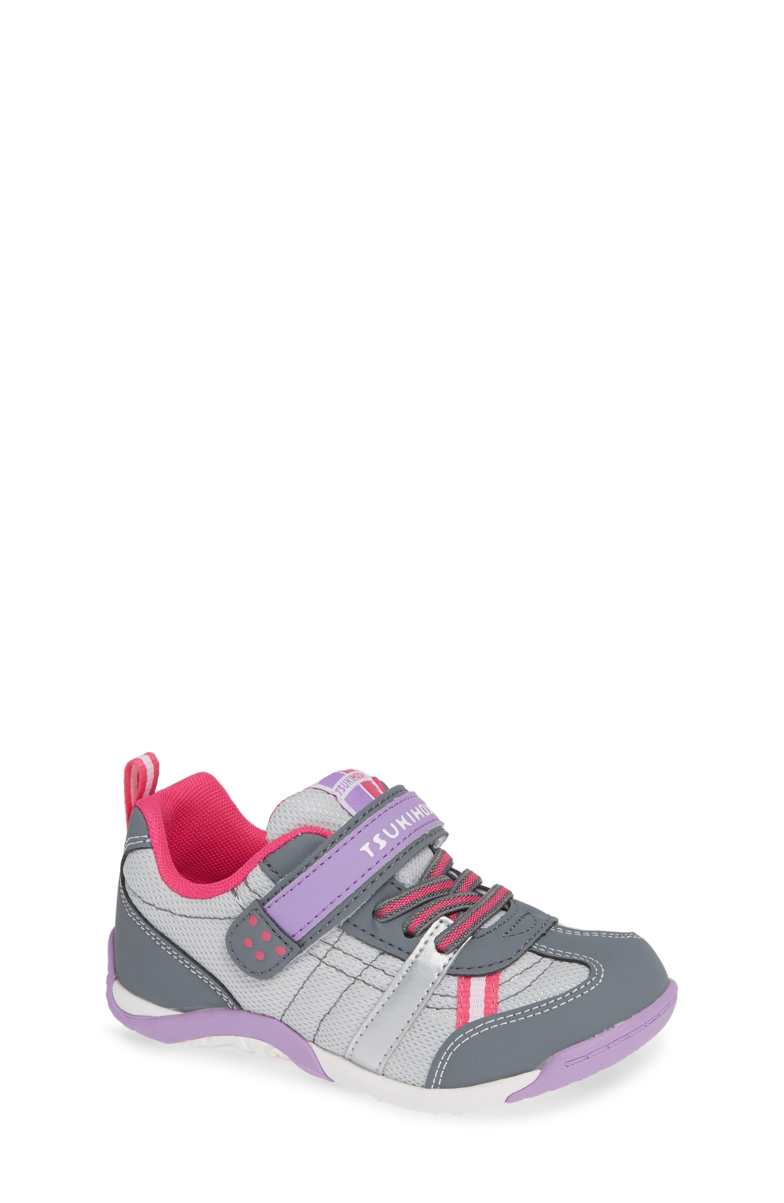 Kaz Washable Sneaker,                             Main thumbnail 1, color,                             Gray/ Purple