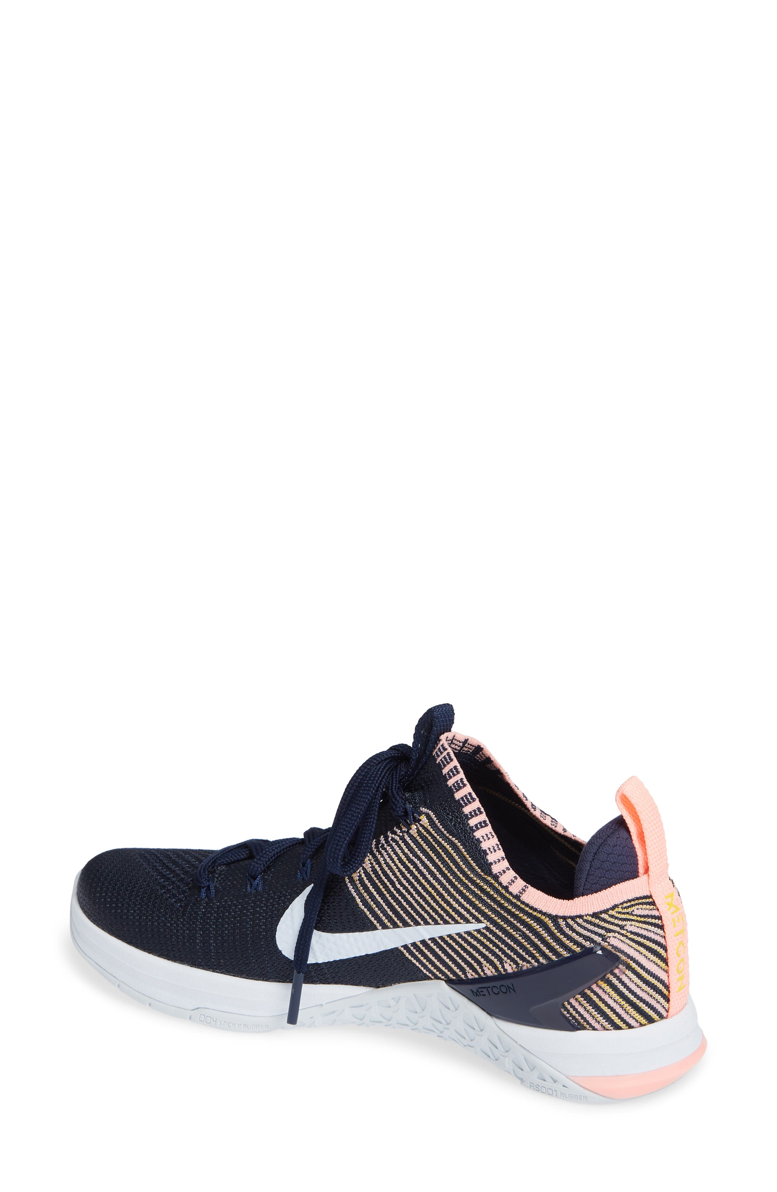 Metcon DSX Flyknit 2 Training Shoe,                             Alternate thumbnail 2, color,                             College Navy/ Blue Tint/ Pink