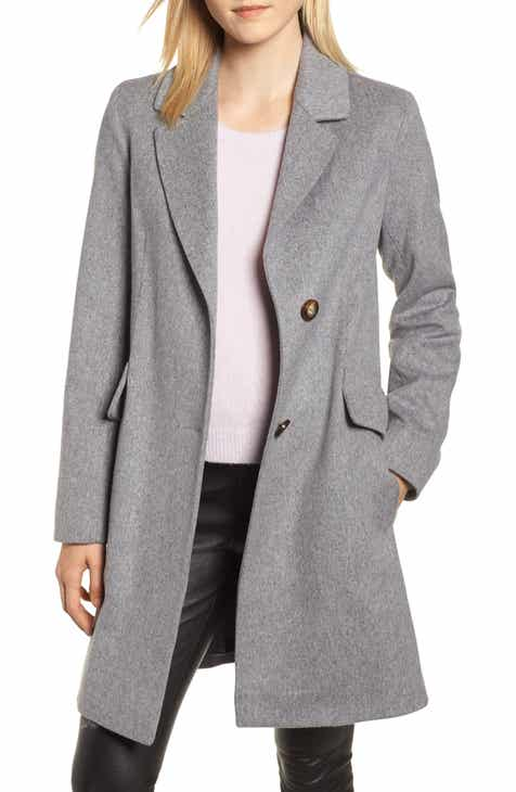 dcac4eb4c156b Fleurette Notch Collar Wool Coat
