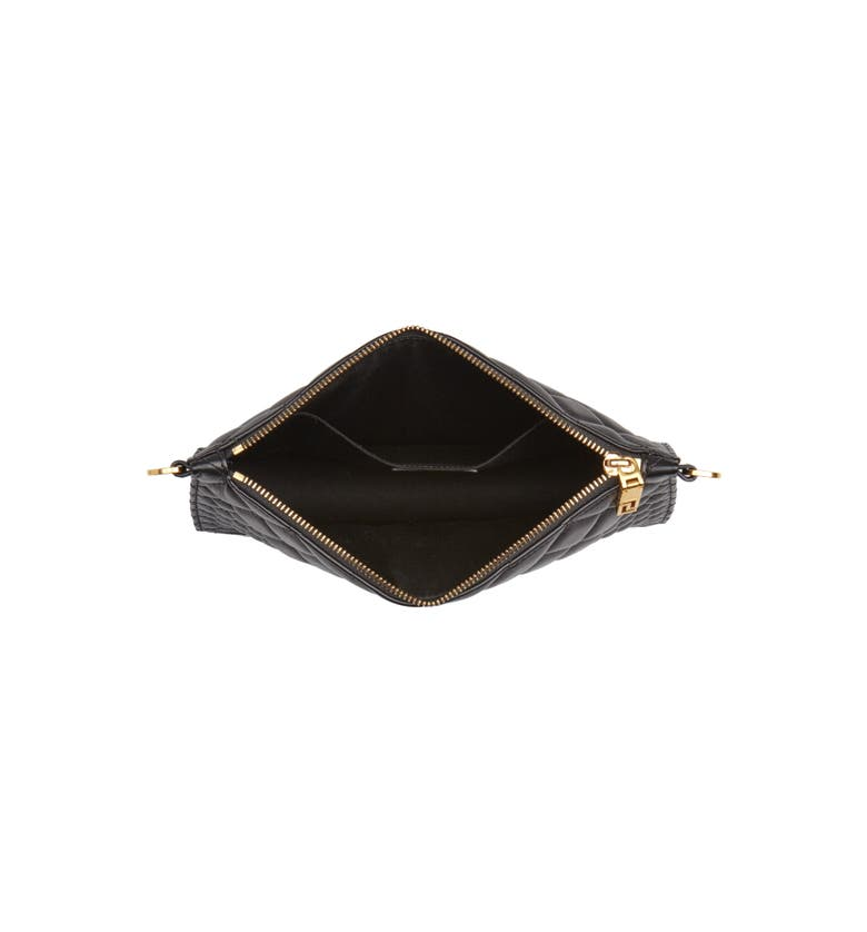 4a041e8d5e Shop Versace Tribute Icon Quilted Leather Pouch - Black In Black  Gold