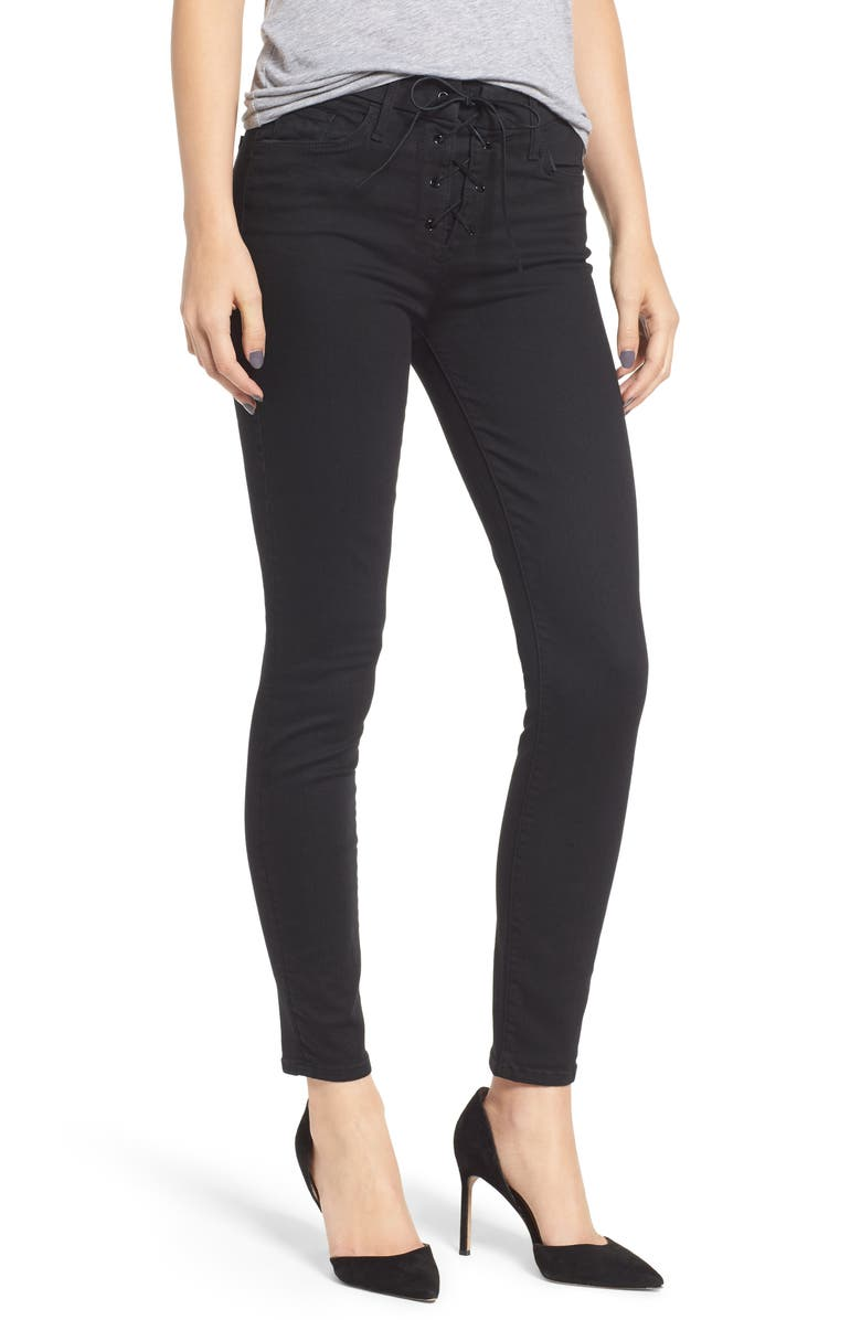 The Looker Lace-Up High Waist Skinny Jeans