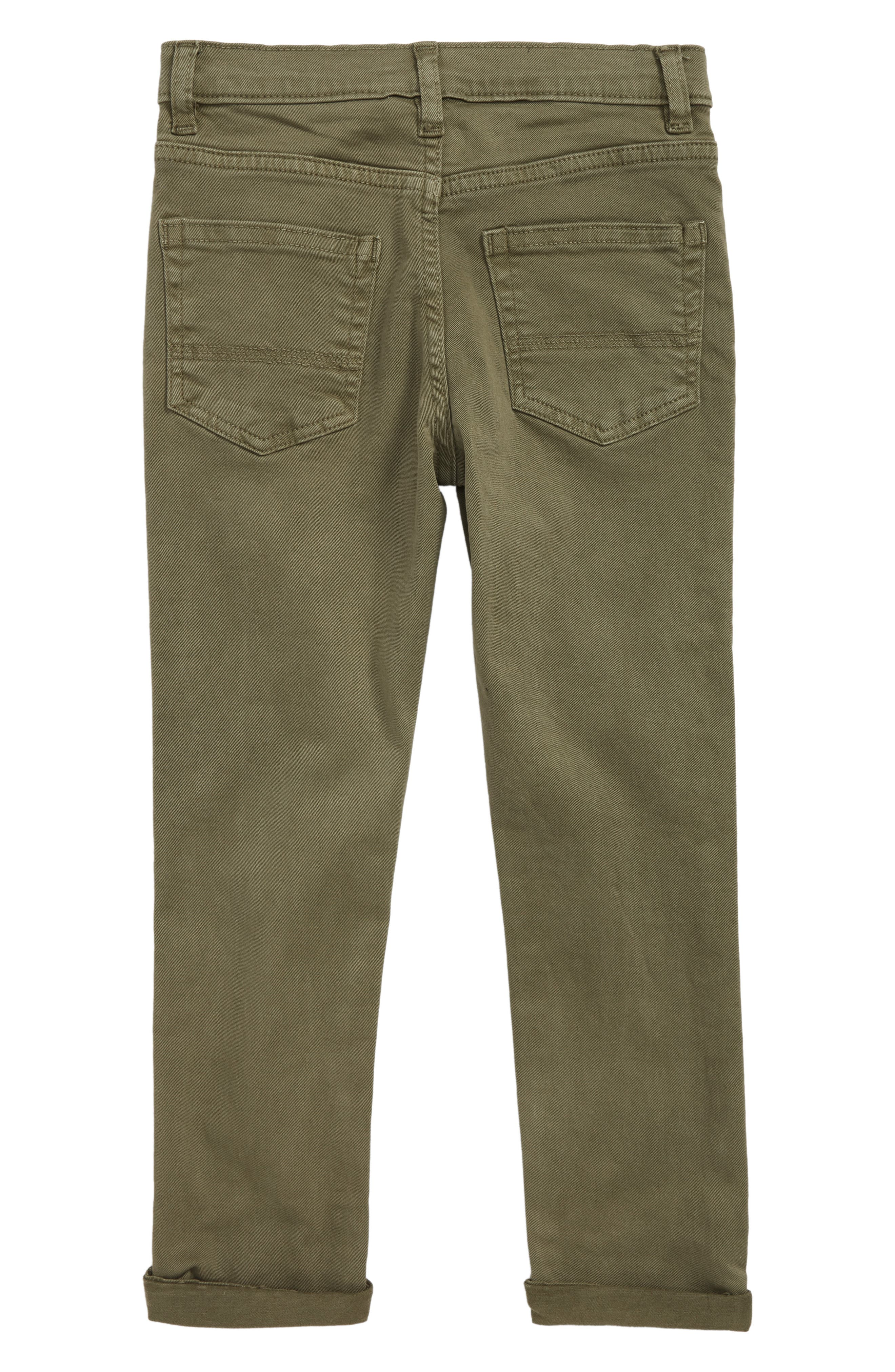 Slouch Twill Jeans,                             Alternate thumbnail 2, color,                             Olive