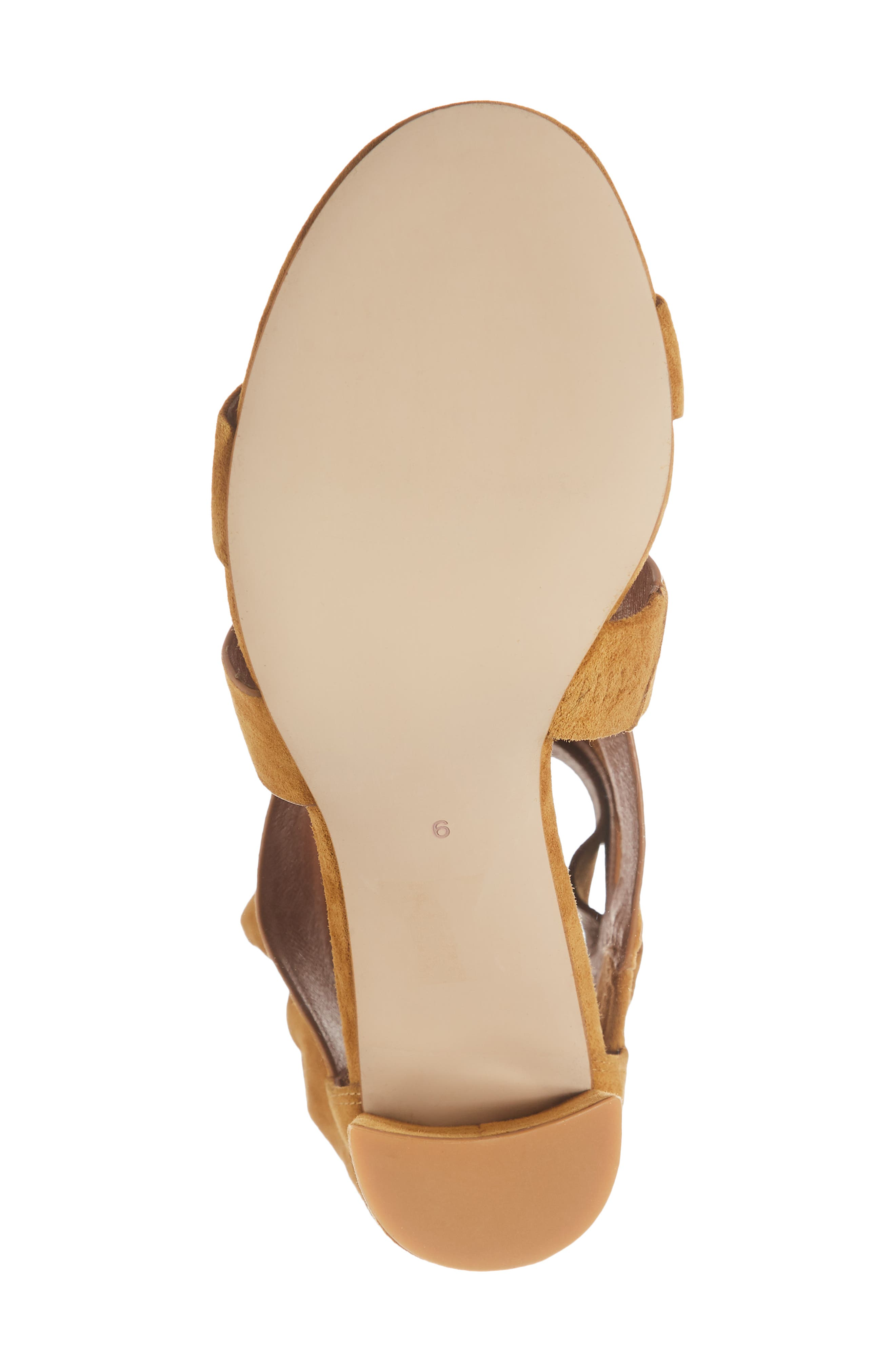 Despoina Sandal,                             Alternate thumbnail 4, color,                             Mustard Suede Leather