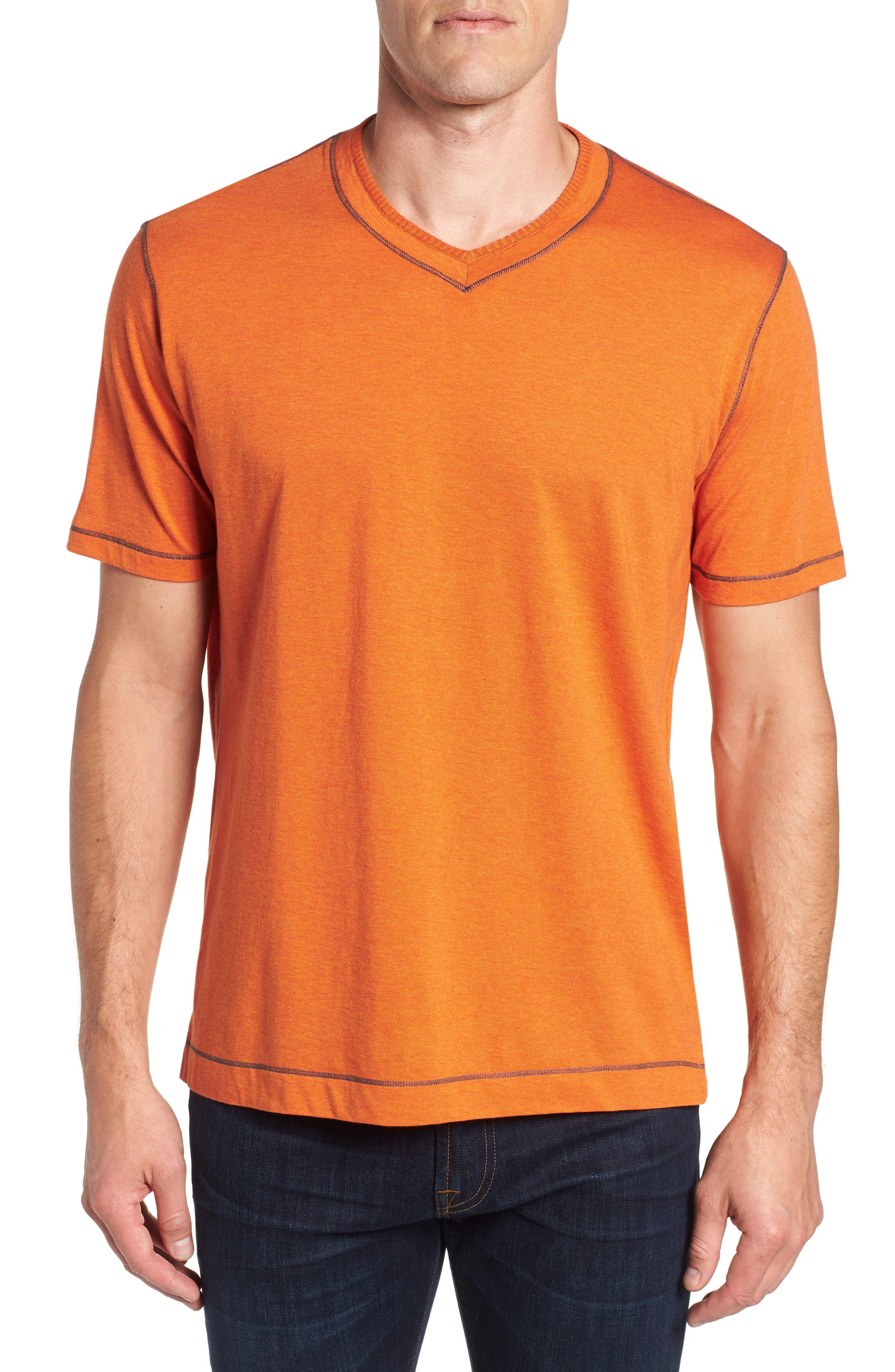 Traveler V-Neck T-Shirt,                         Main,                         color, Orange