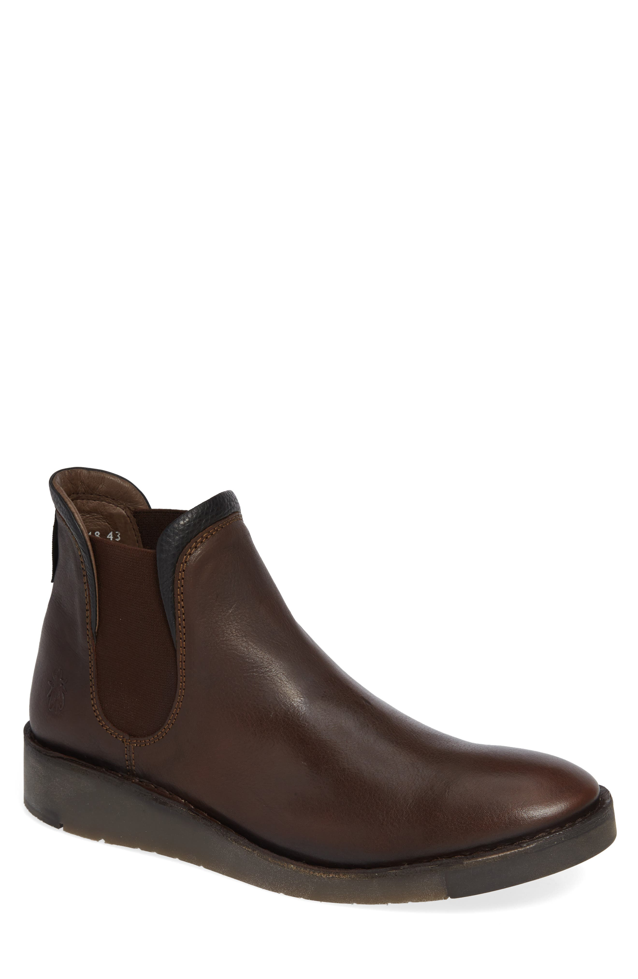 Sern Water Resistant Chelsea Boot,                             Main thumbnail 1, color,                             Brown Apso