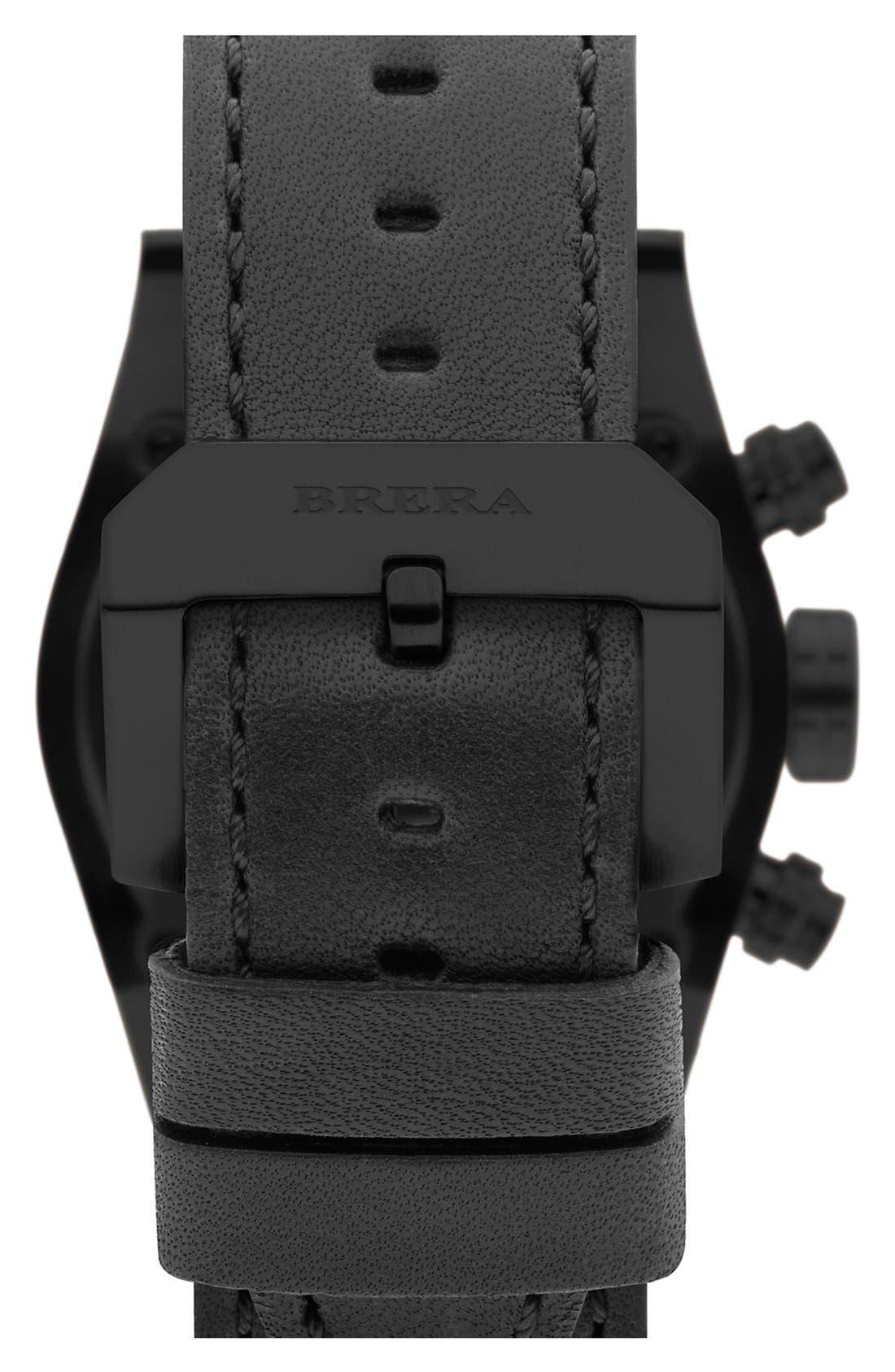 Alternate Image 2  - Brera Orologi 'Eterno Piccolo' Chronograph Leather Strap Watch, 38mm (Nordstrom Exclusive)