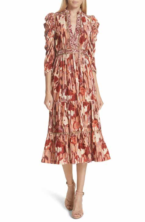 ac3f598bba75 Ulla Johnson Ziggy Velvet Midi Dress