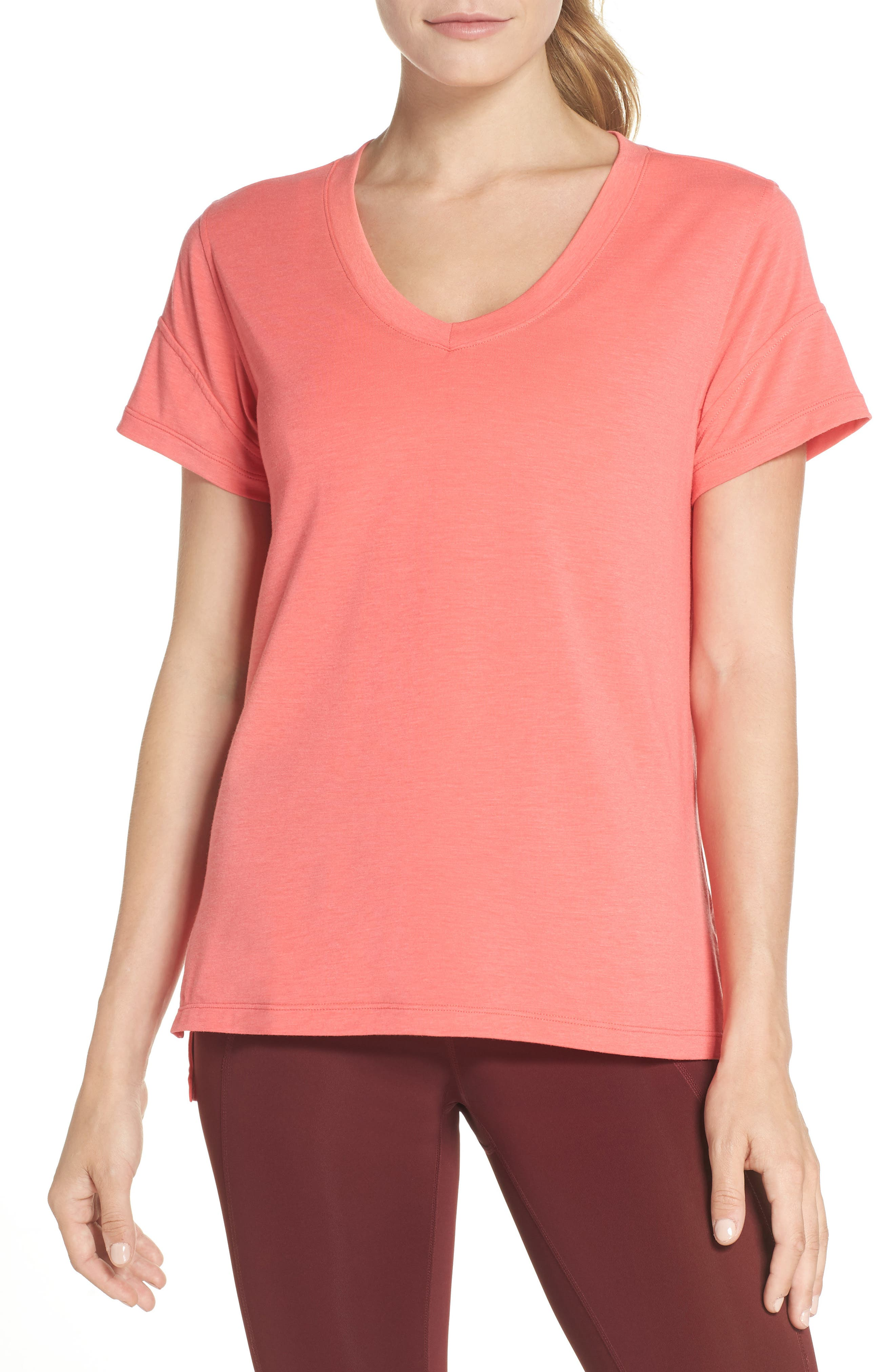 Ava Tee,                             Main thumbnail 1, color,                             Coral Calypso