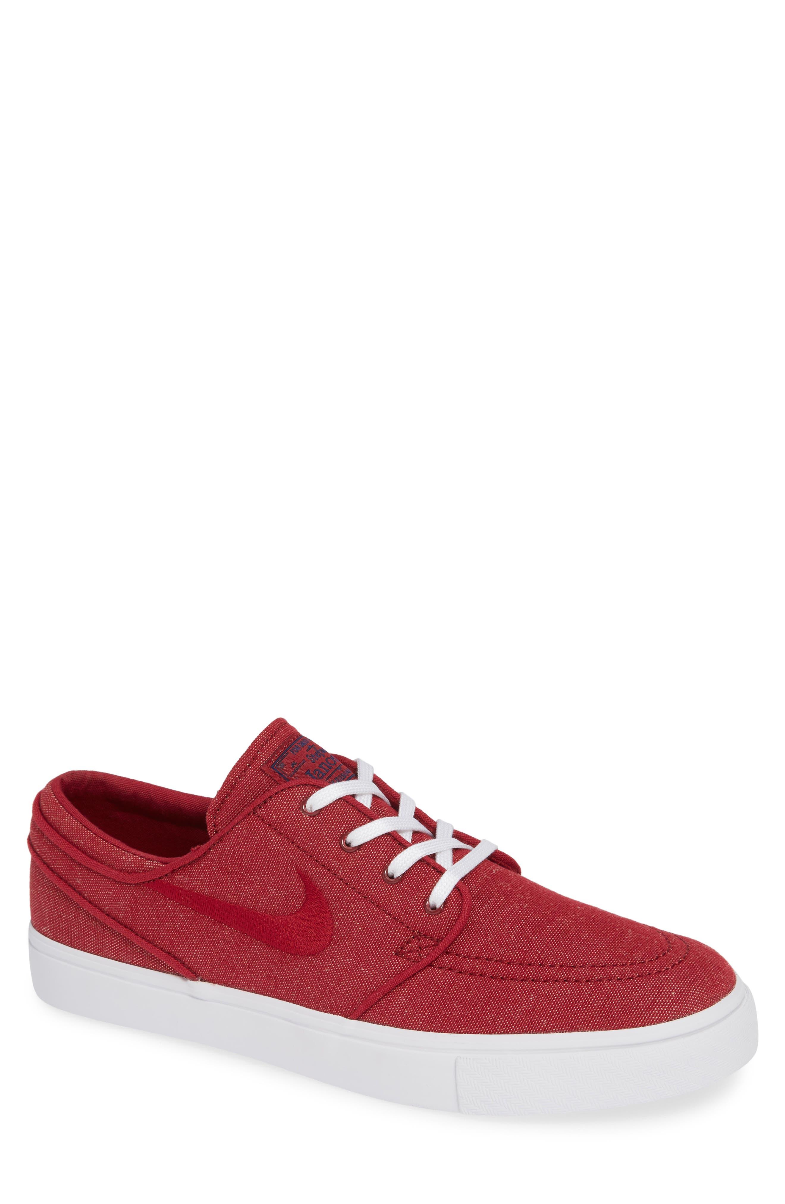Zoom - Stefan Janoski SB Canvas Skate Shoe,                         Main,                         color, Red Crush/ White