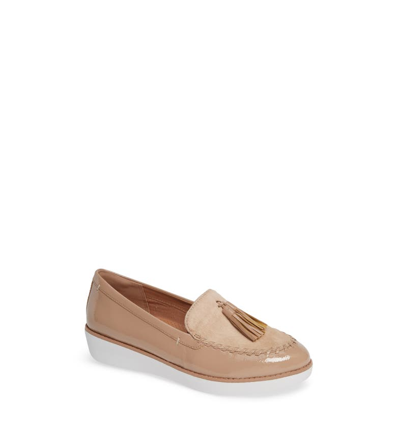 c14dd8d4e6f Fitflop Petrina Genuine Calf Hair Loafer In Taupe Faux Leather ...