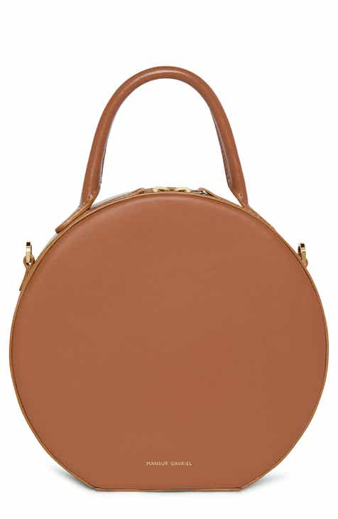f883d925439 Mansur Gavriel Leather Circle Crossbody Bag
