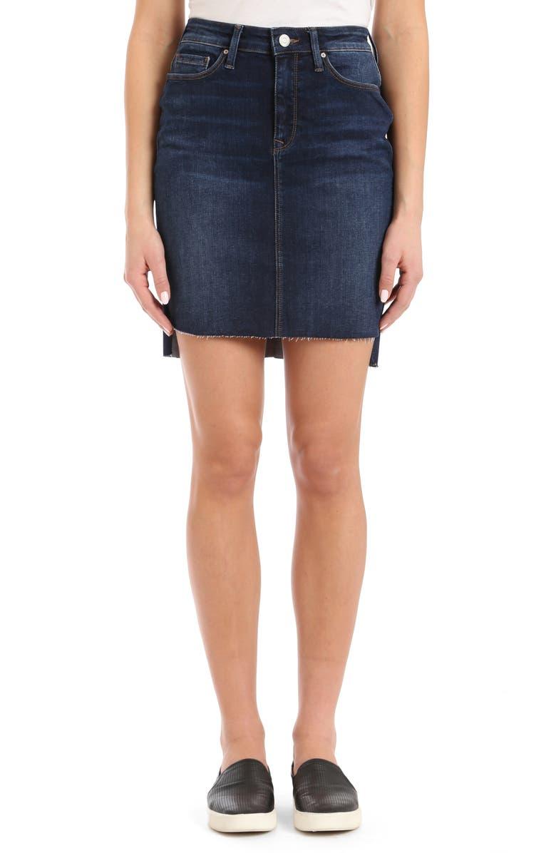 Mila Frayed Denim Skirt