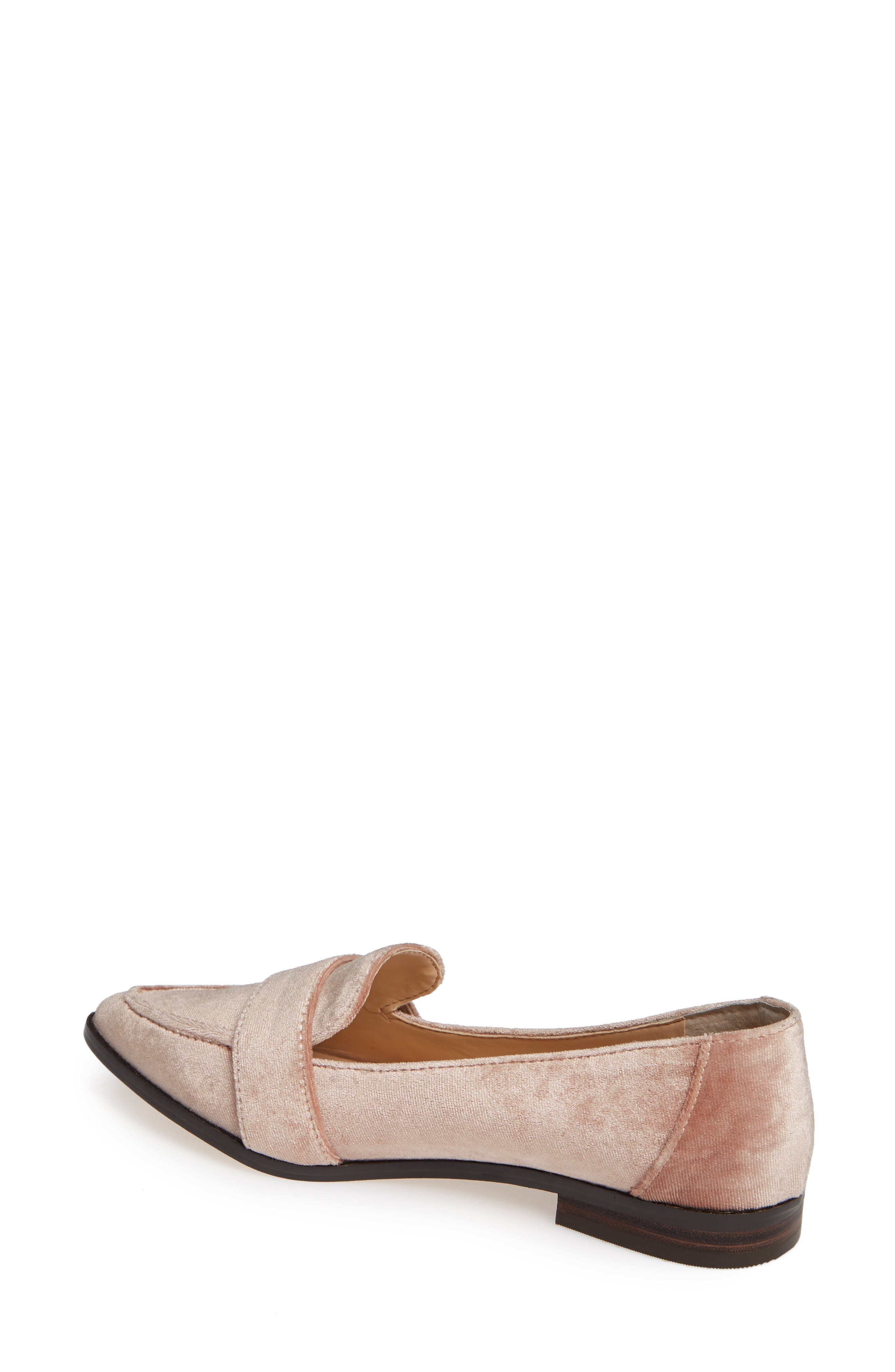 Edie Pointy Toe Loafer,                             Alternate thumbnail 2, color,                             Moonlight Velvet