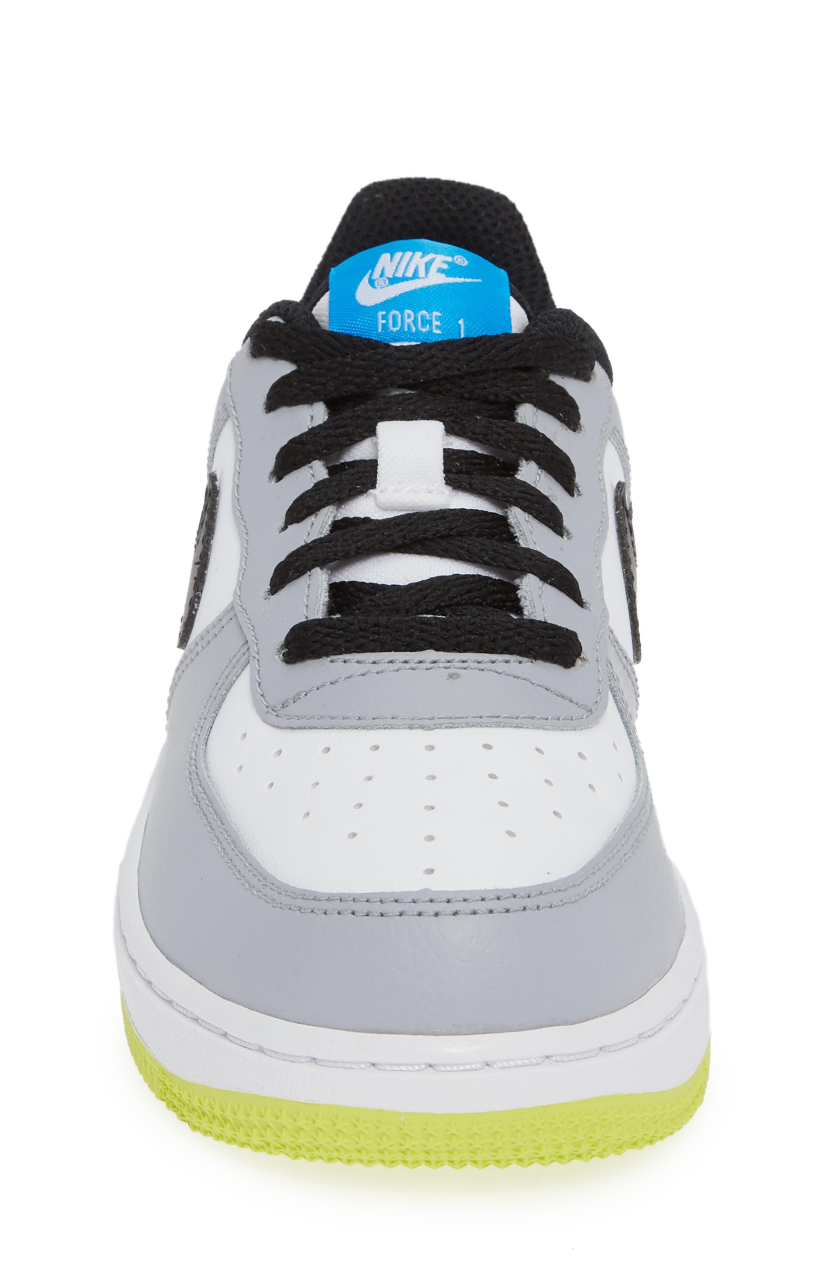 Air Force 1 Sneaker,                             Alternate thumbnail 3, color,                             Wolf Grey/ Black/ White/ Blue