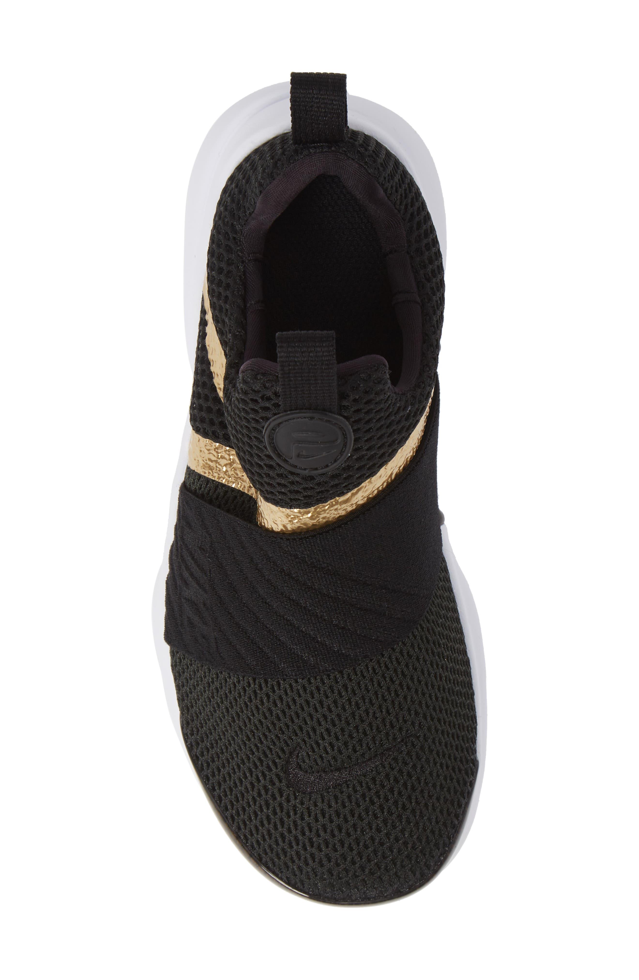 Presto Extreme Sneaker,                             Alternate thumbnail 6, color,                             Black/ Metallic Gold/ White