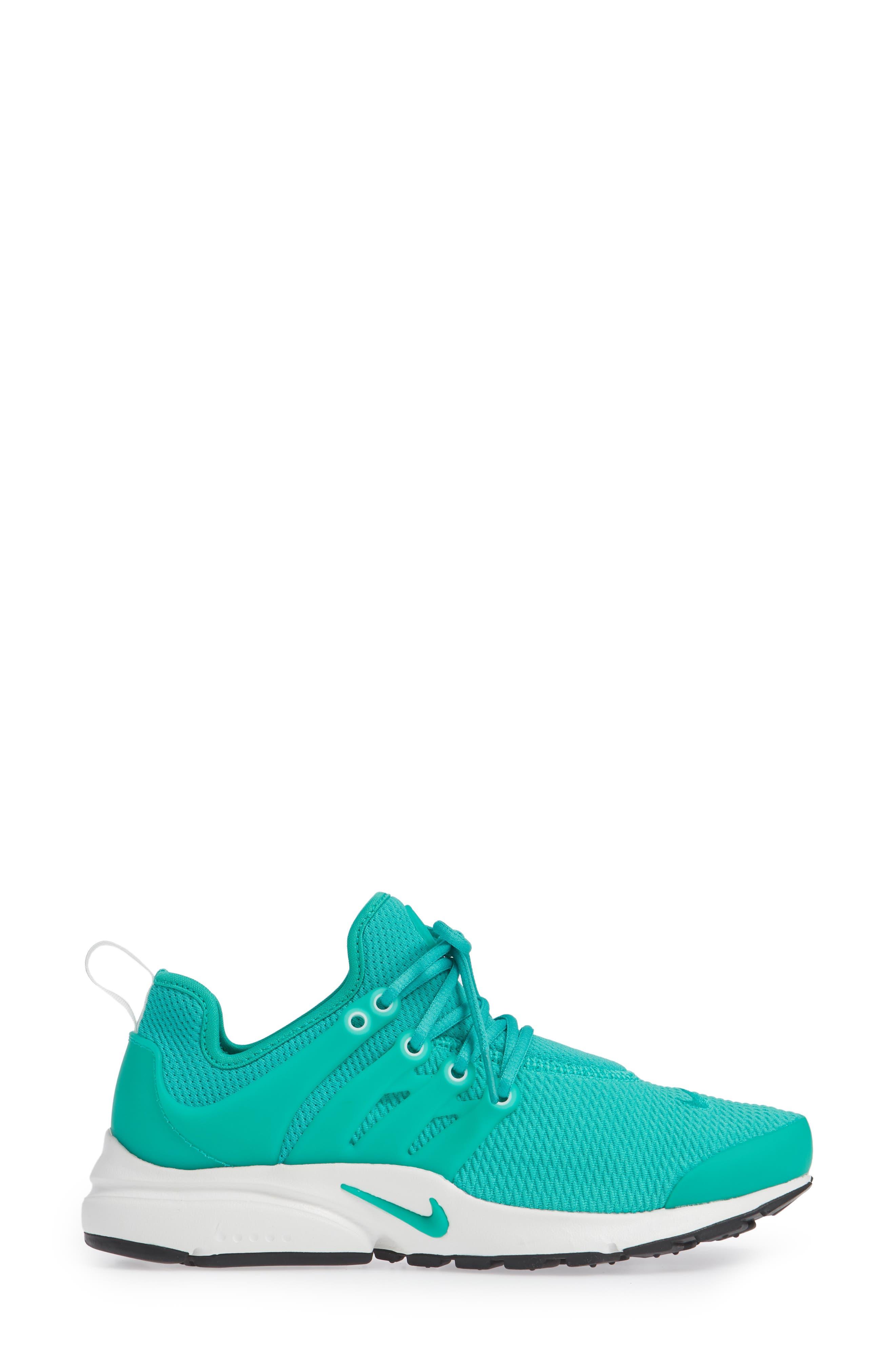 Air Presto Sneaker,                             Alternate thumbnail 5, color,                             Clear Emerald/ Summit White