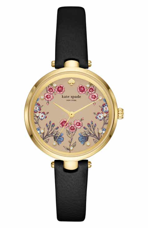 a26c4af5d72 kate spade new york holland floral leather strap watch