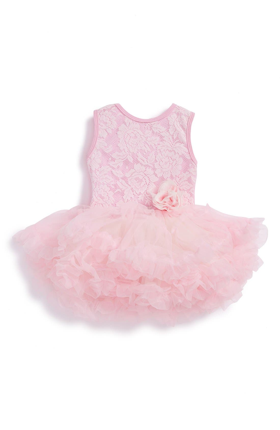 Main Image - Popatu Lace Tulle Dress (Baby Girls)