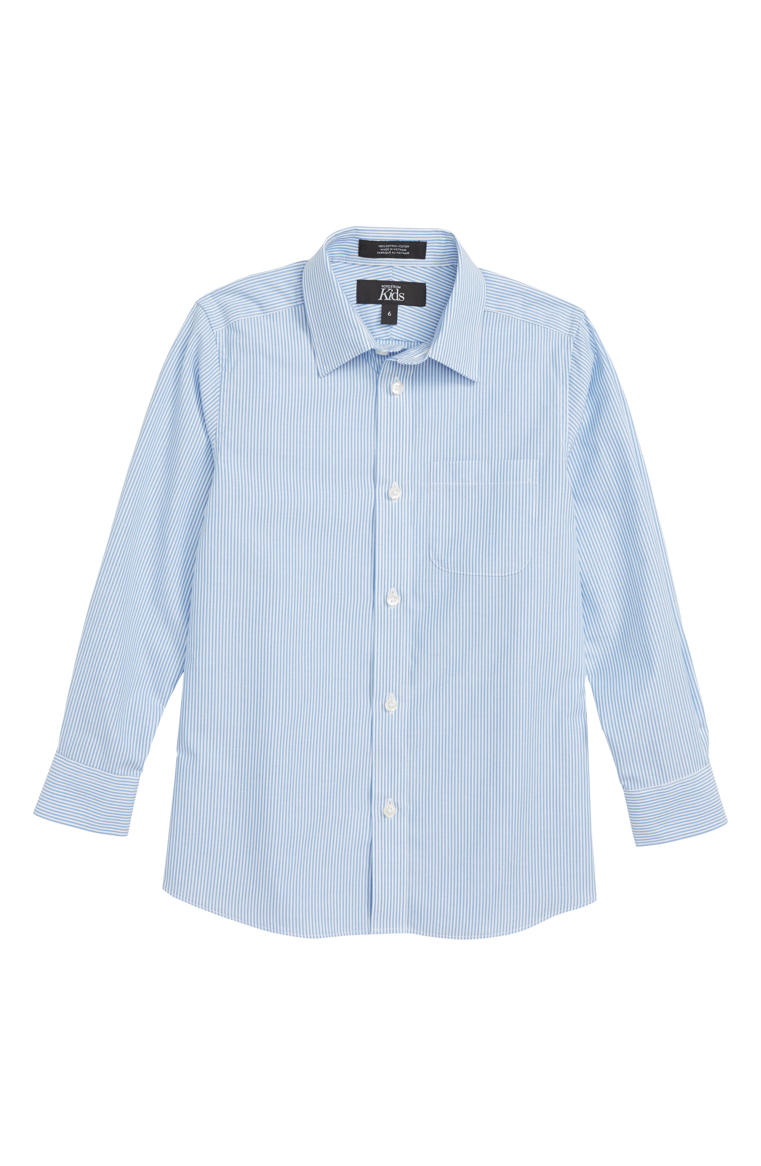 Heritage Stripe Dress Shirt,                             Main thumbnail 1, color,                             Blue Heritage- White Stripe
