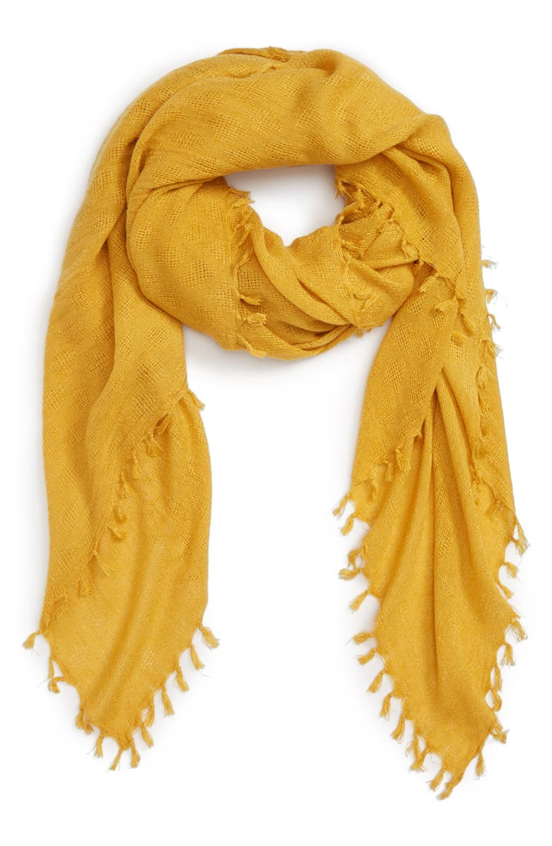 Treasure & Bond Solid Fringed Scarf | Nordstrom