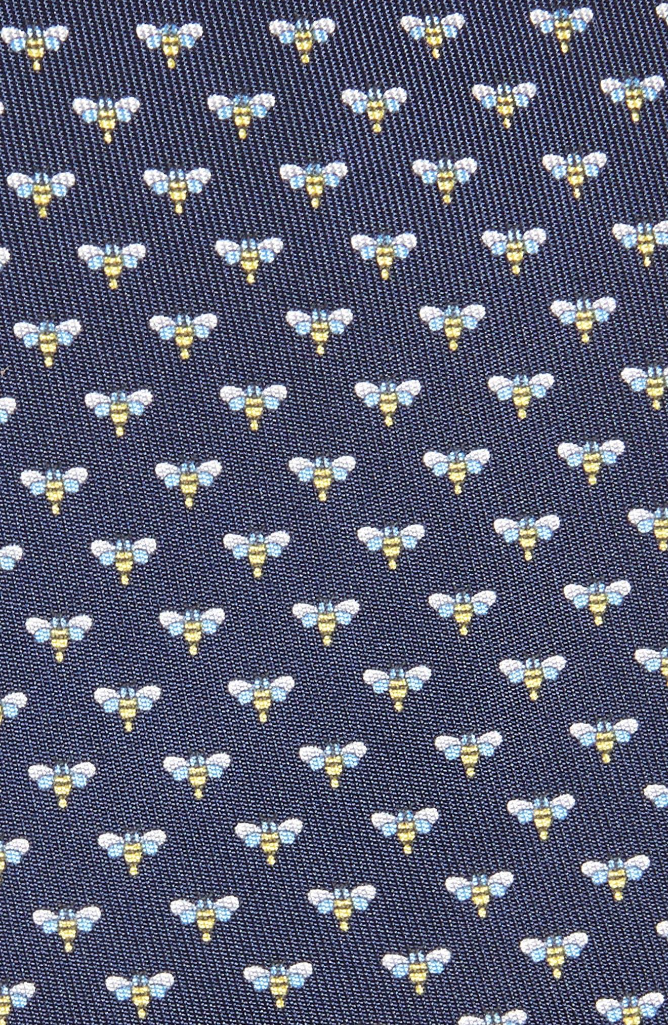 Falena Print Silk Tie,                             Alternate thumbnail 2, color,                             Navy