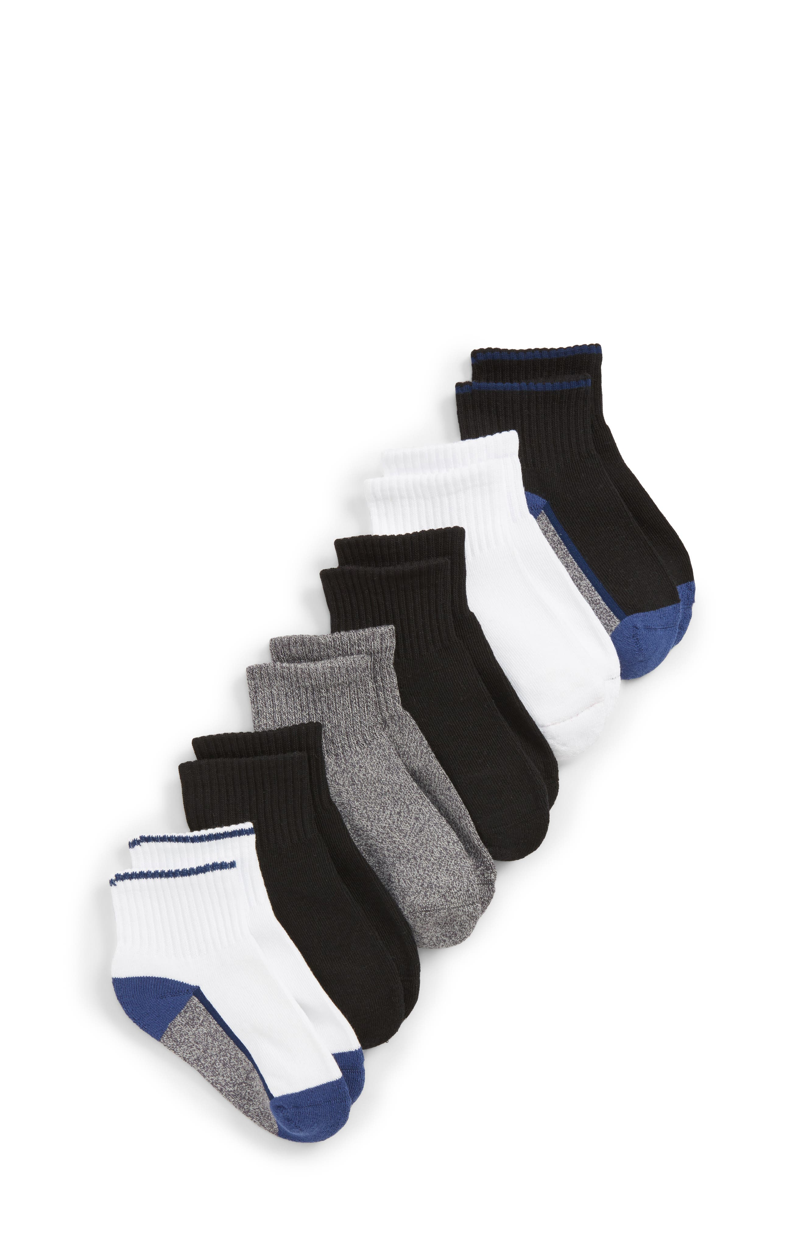 6-Pack Active Quarter Socks,                         Main,                         color, Twilight Blue Multi