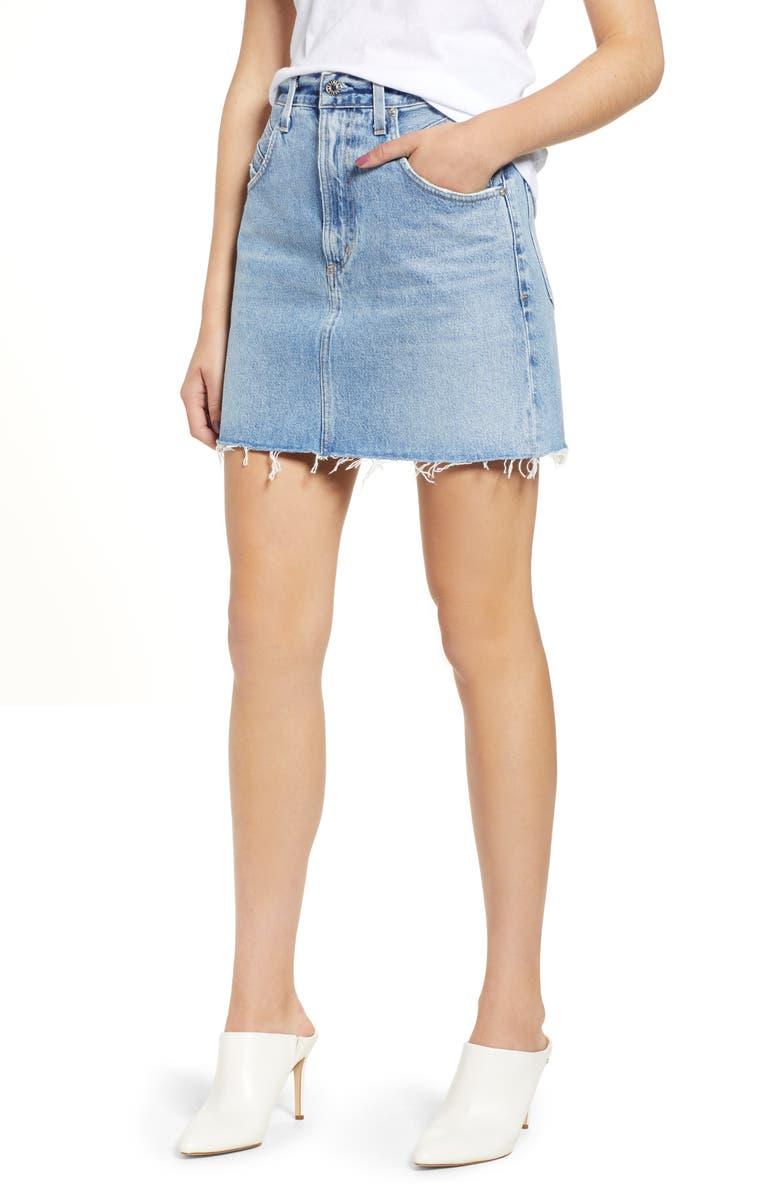 Palmer High Waist Denim Mini Skirt
