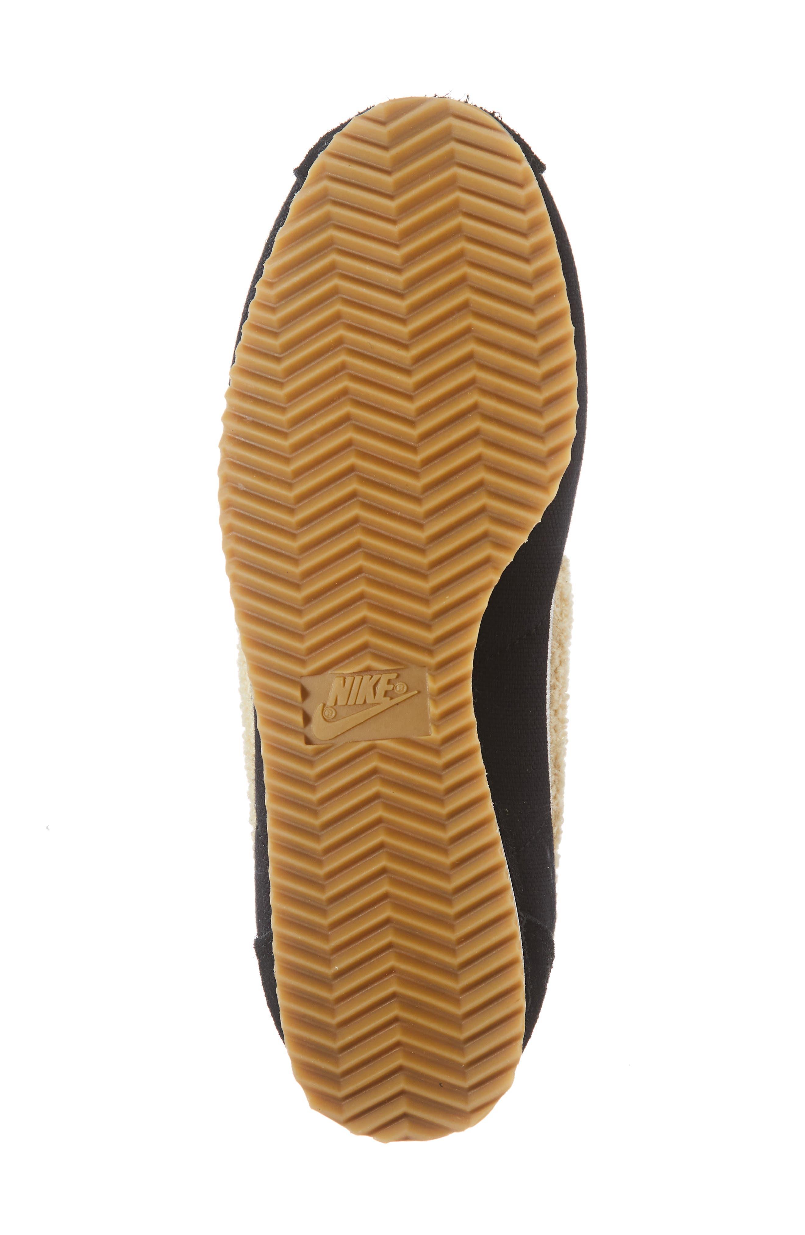 Classic Cortez Premium XLV Sneaker,                             Alternate thumbnail 4, color,                             Black/ Light Cream/ Brown