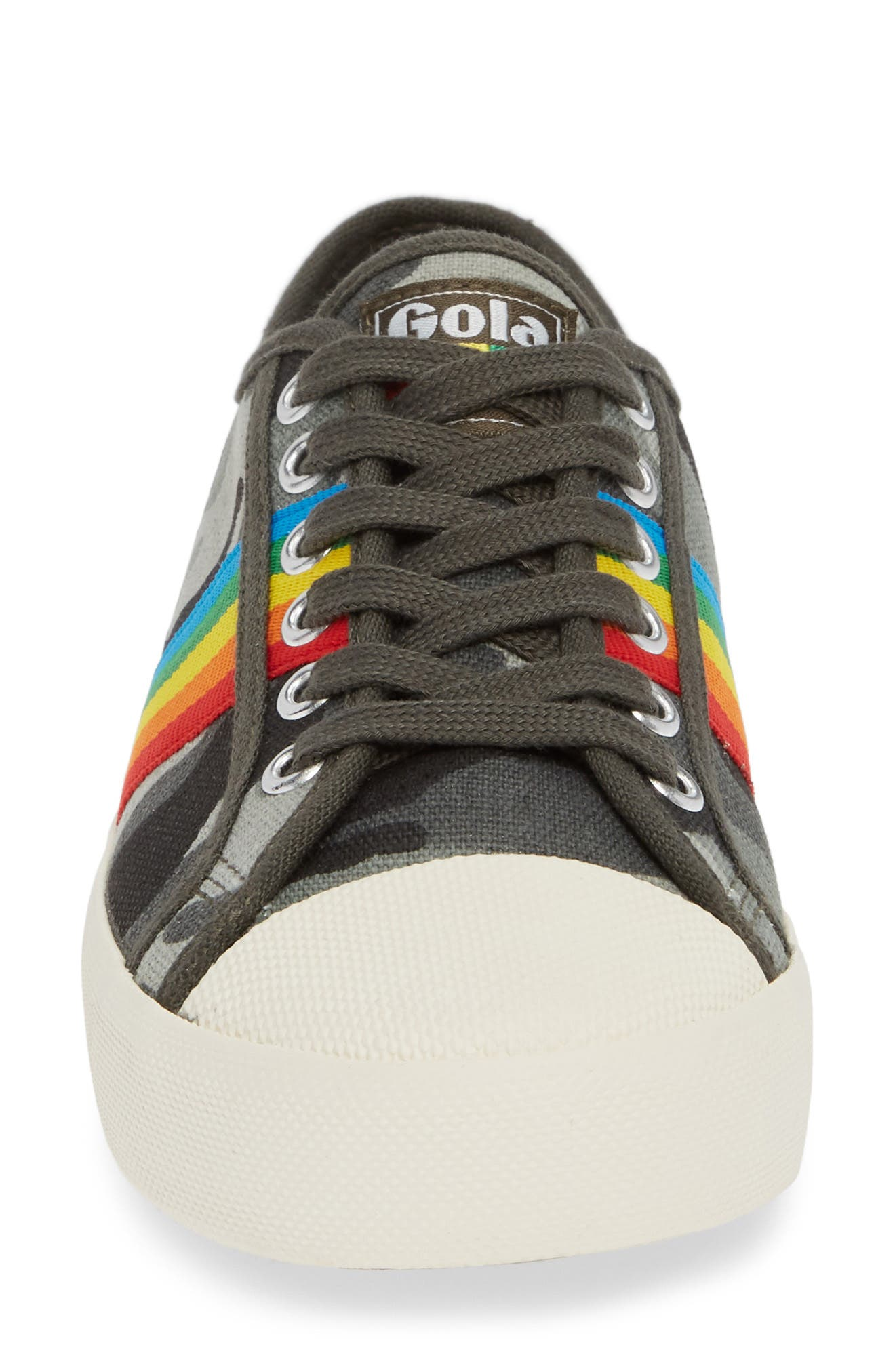 Coaster Rainbow Striped Sneaker,                             Alternate thumbnail 4, color,                             Camo Multi