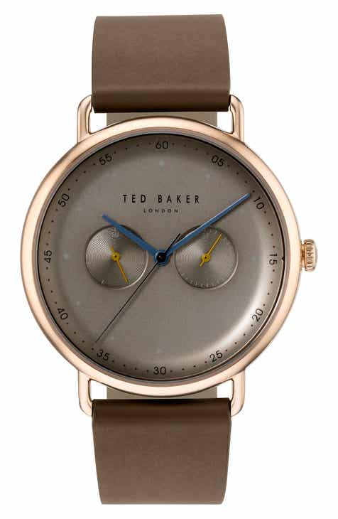 1551ae3ec38 Ted Baker London Leather Strap Watch, 40mm