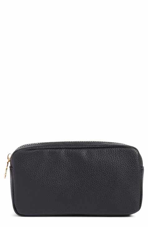 935f714e8bd352 Stoney Clover Lane Small Pebbled Faux Leather Makeup Bag