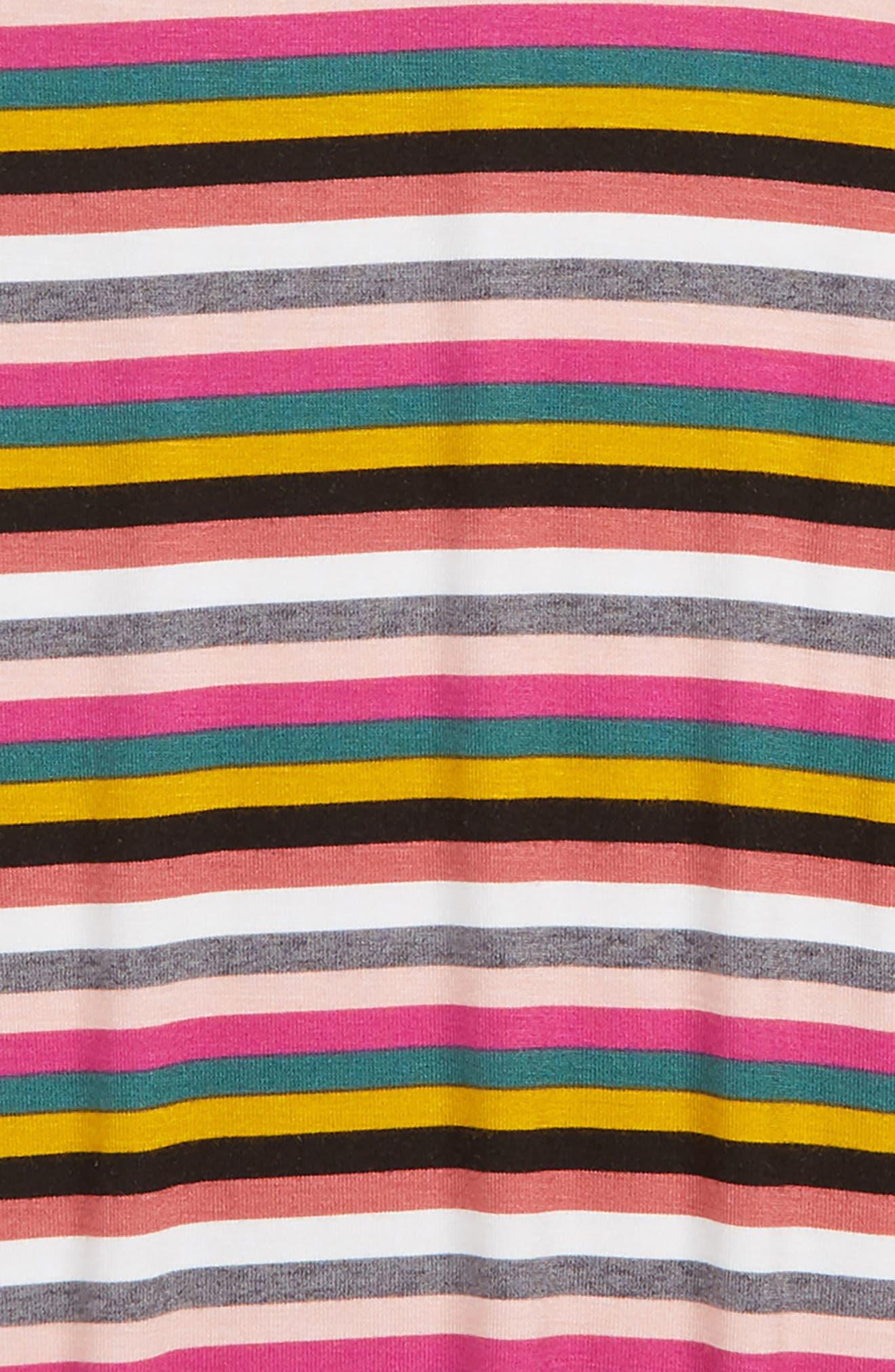 Stripe Sleeveless Mock Neck Tank,                             Alternate thumbnail 2, color,                             Pink