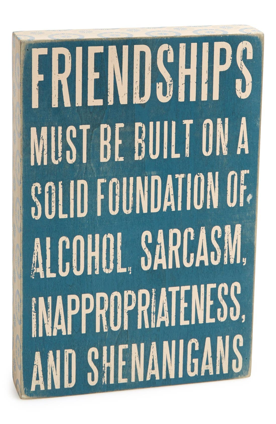 Main Image - Primitives by Kathy 'Friendships' Box Sign