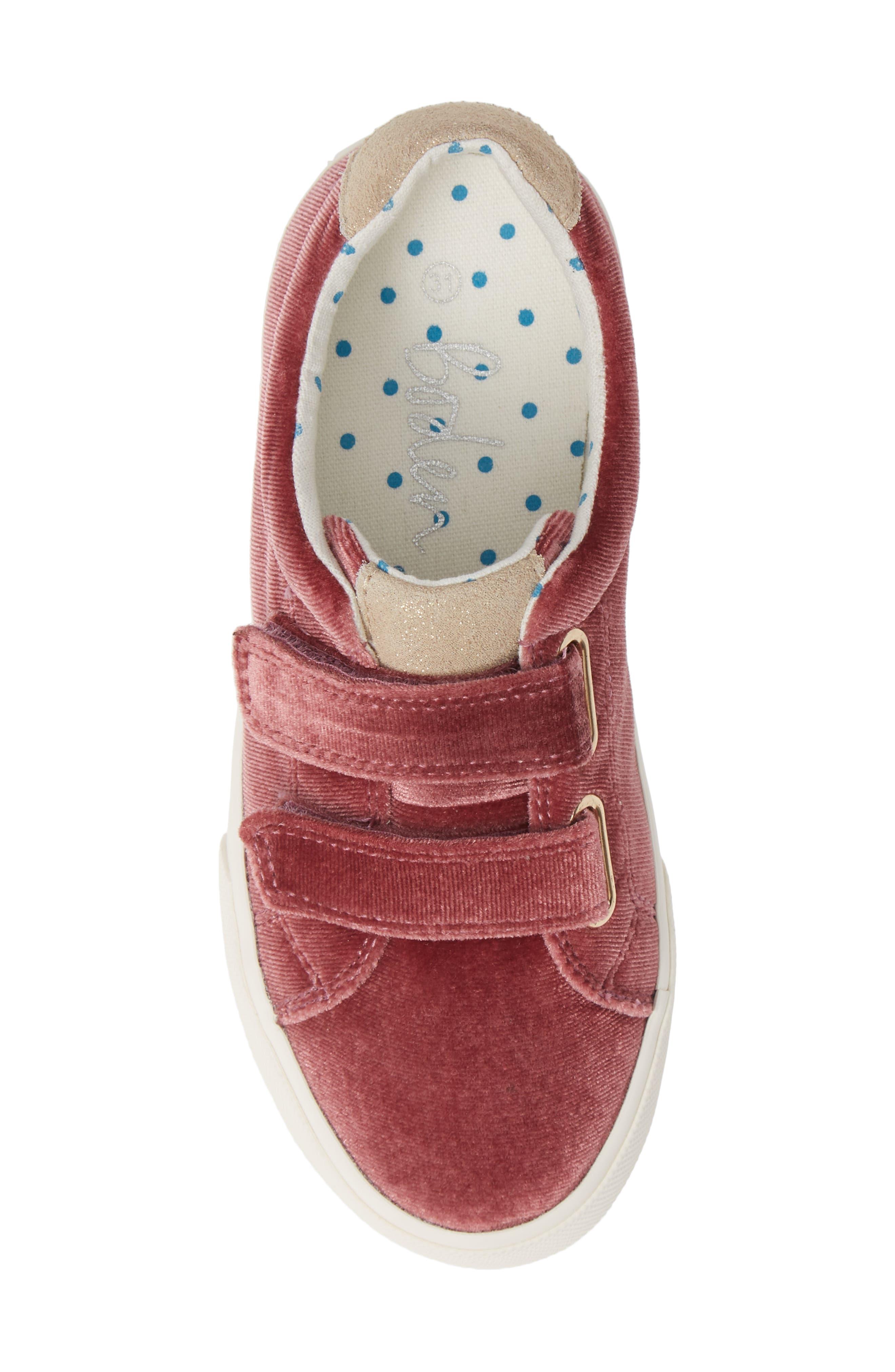Mini Boden Fun Low Top Sneaker,                             Alternate thumbnail 4, color,                             Deep Berry