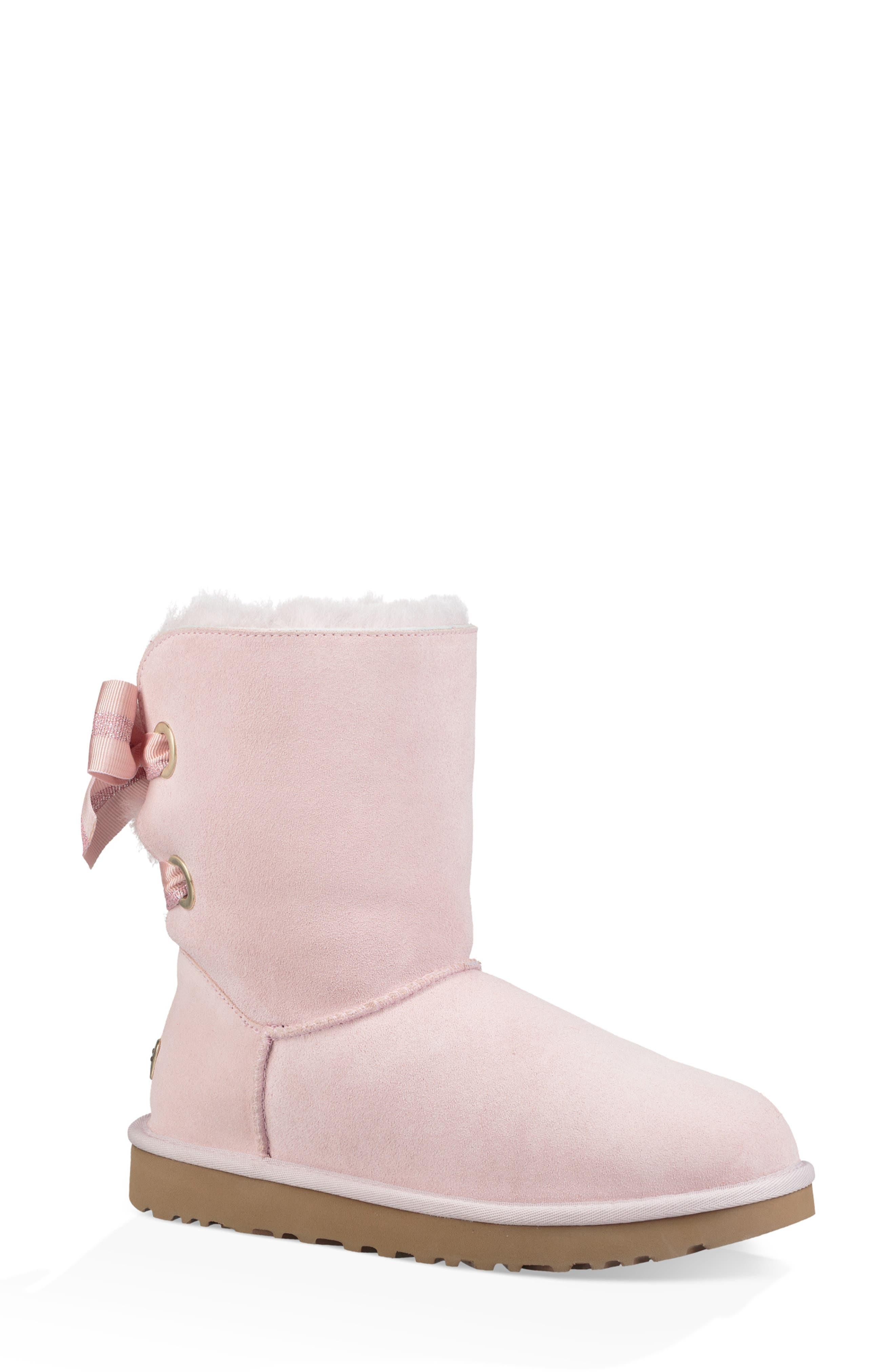UGG® Customizable Bailey Bow Genuine Shearling Bootie (Women)