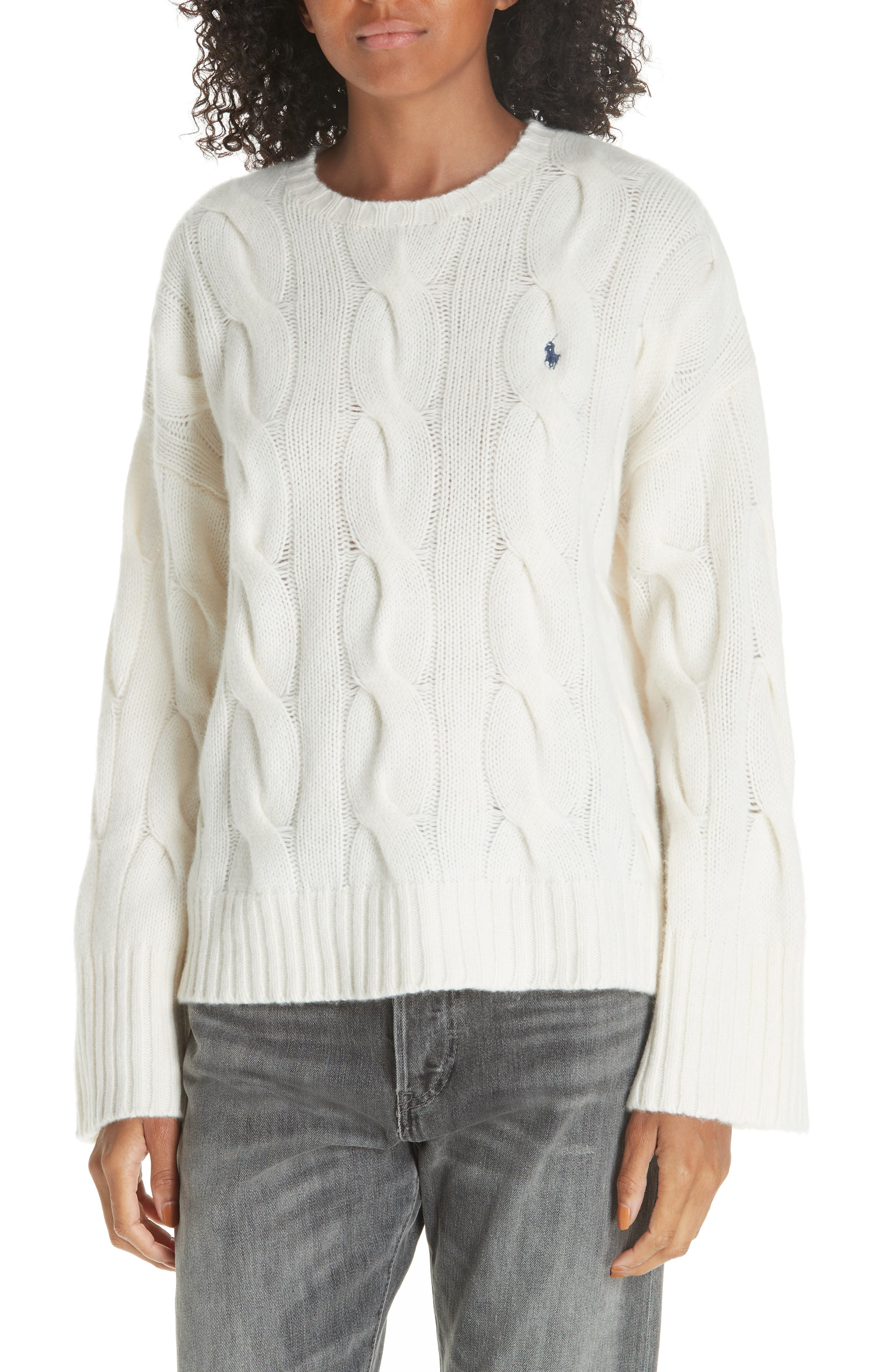 Polo Ralph Lauren Dolman Sleeve Cable Knit Sweater