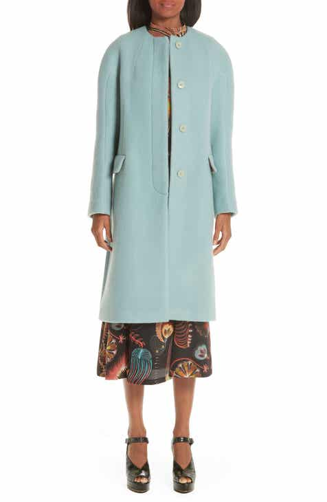 Dries Van Noten Wool Mohair Coat