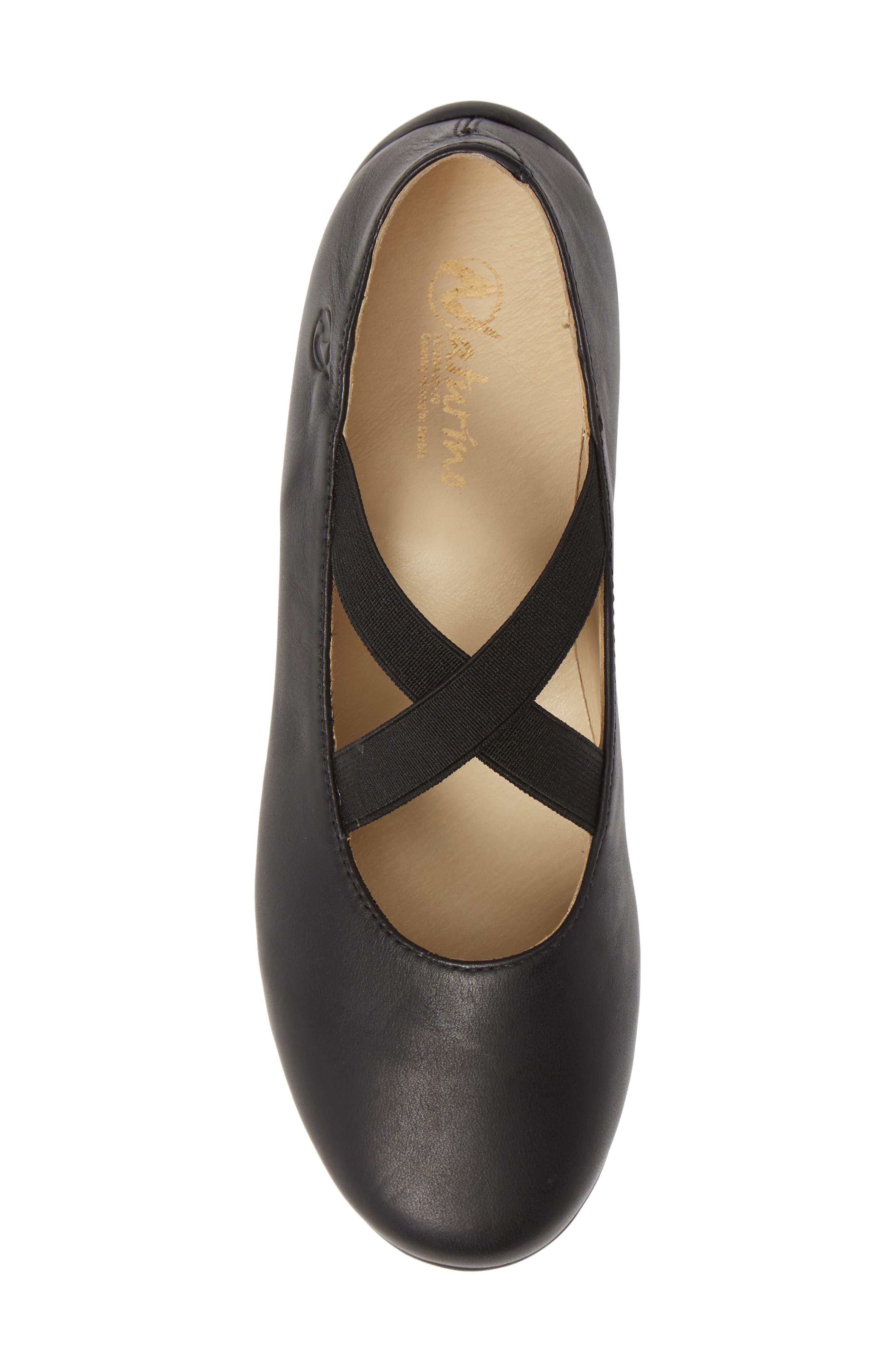 Matera Ballet Flat,                             Alternate thumbnail 6, color,                             Black Leather