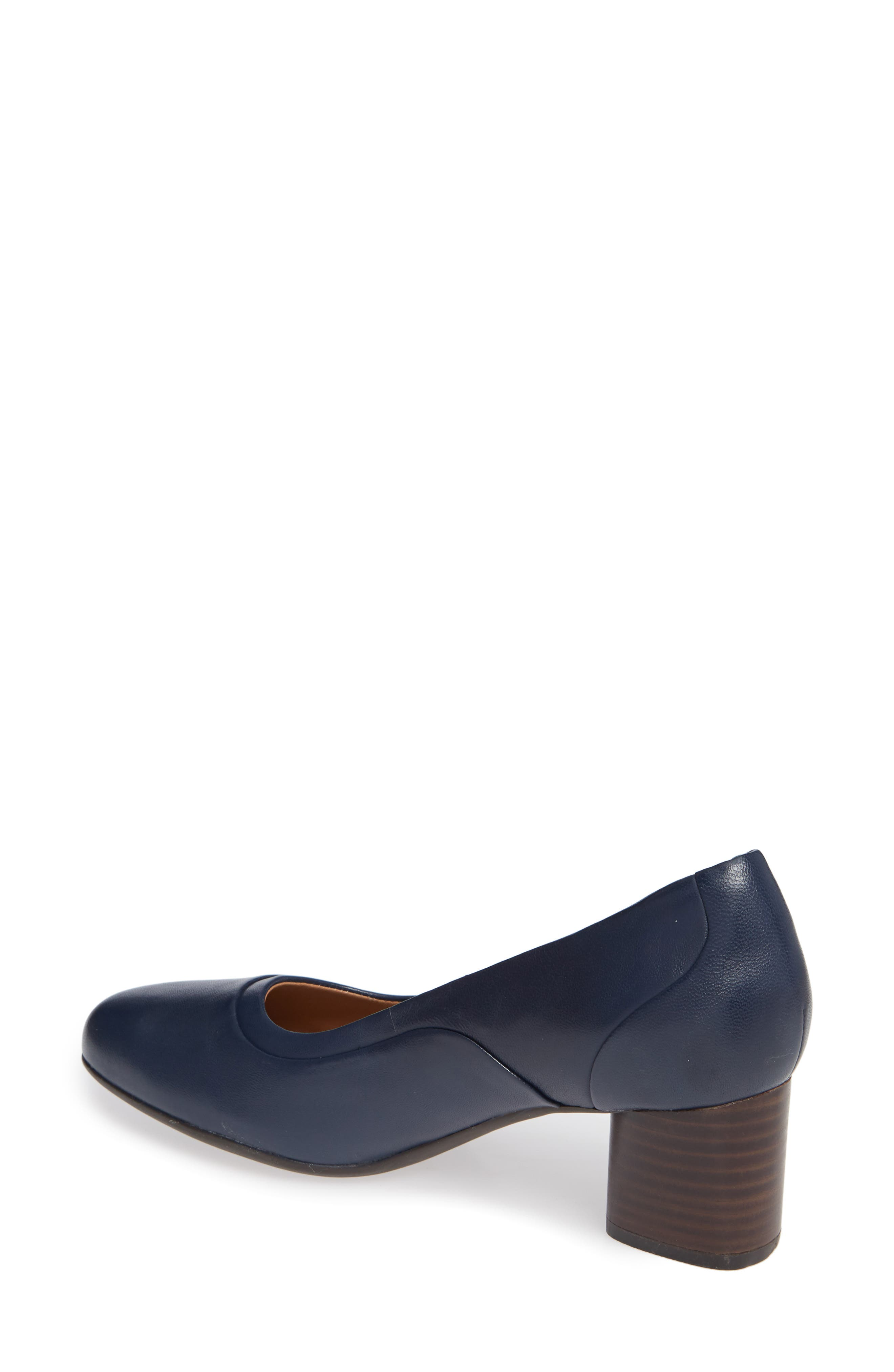 Un Cosmo Step Pump,                             Alternate thumbnail 2, color,                             Navy Leather