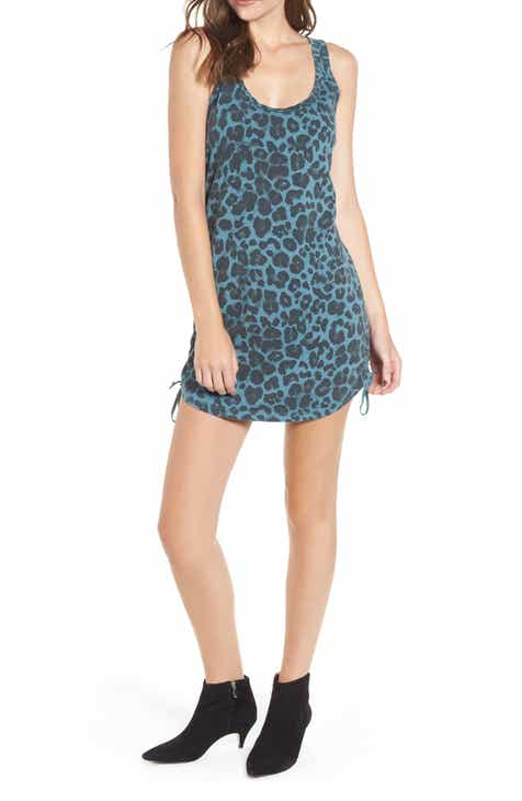 a217710e529f0 Pam & Gela Leopard Print Racerback Cotton Minidress