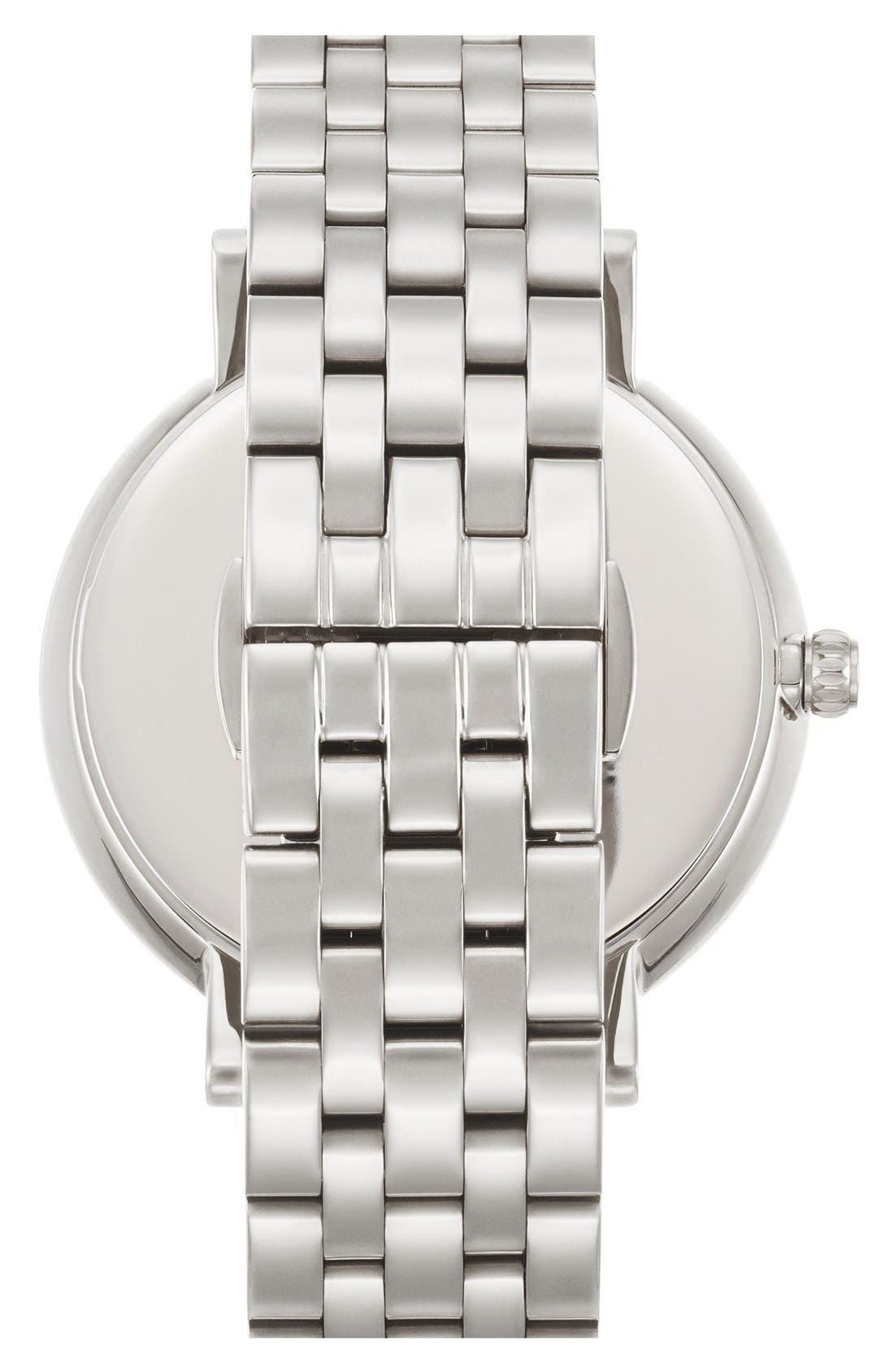 'monterey' crystal dial bracelet watch, 38mm,                             Alternate thumbnail 2, color,                             Silver