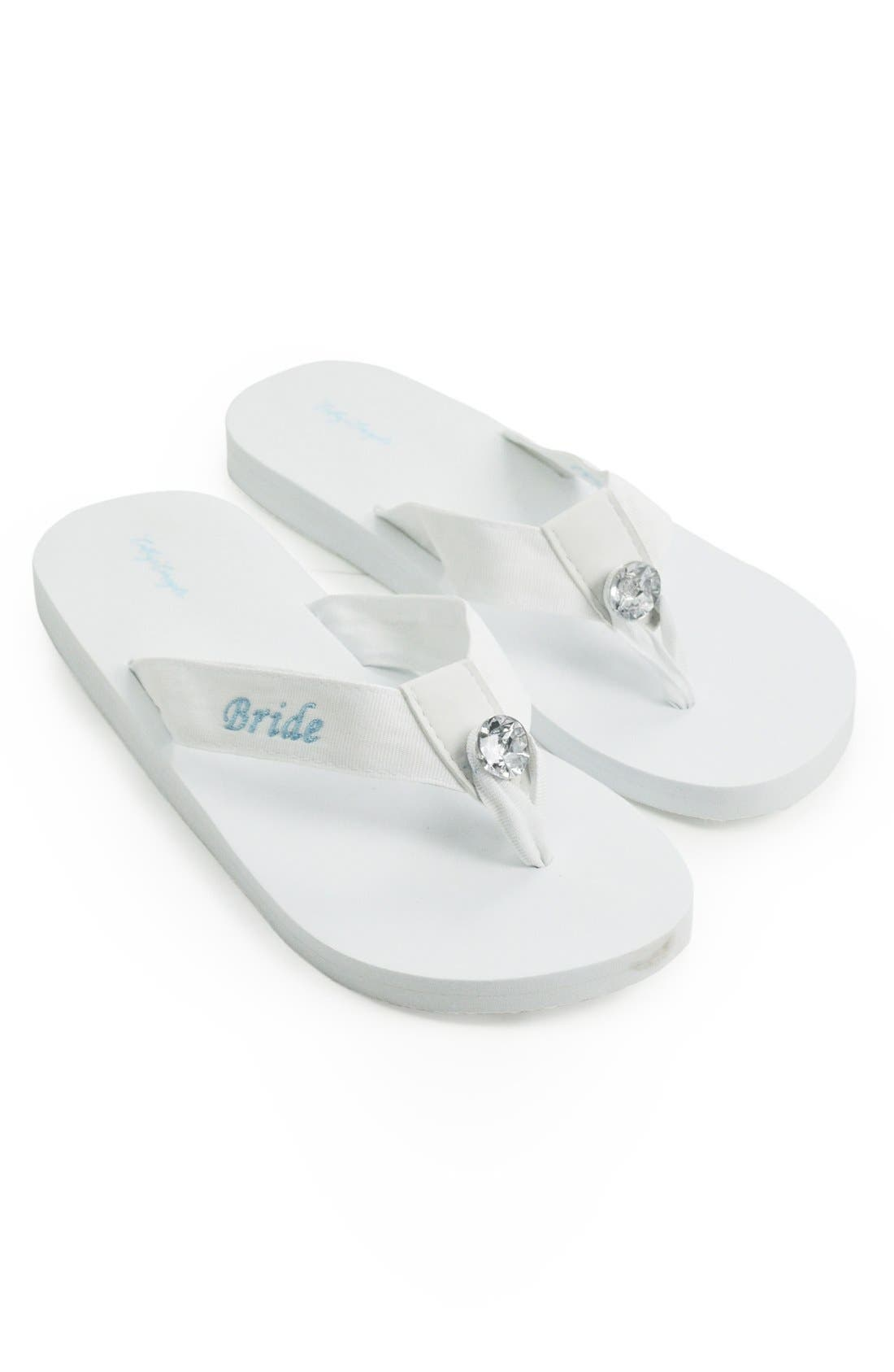 Cathy's Concepts 'Bride' Personalized Flip Flops