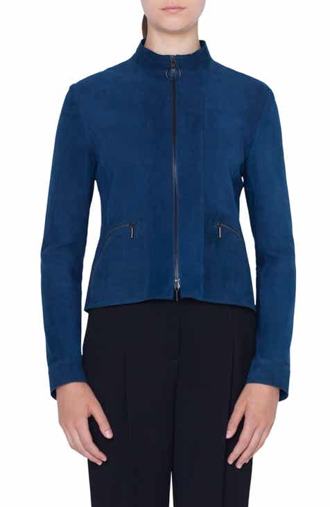 Akris punto Suede Zip Jacket by AKRIS PUNTO