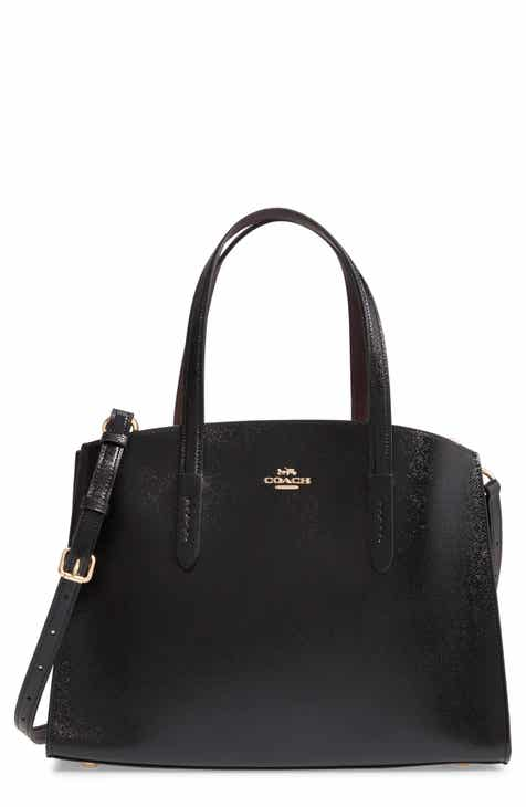 COACH Charlie Patent Leather Tote 4749cb100212f