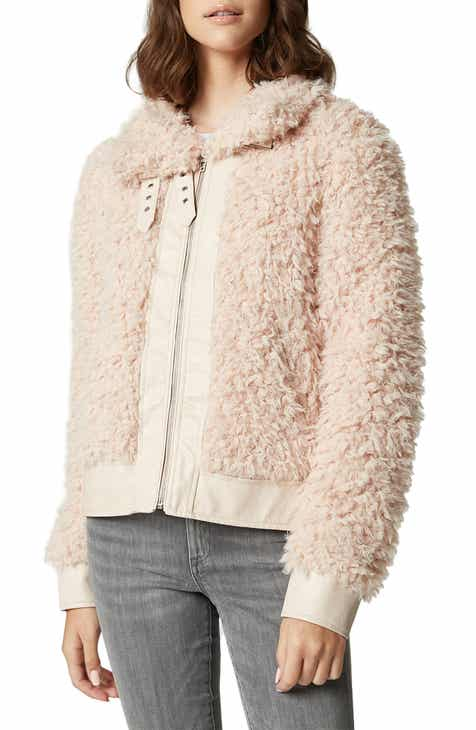 BLANKNYC Curly Faux Shearling Jacket by BLANKNYC