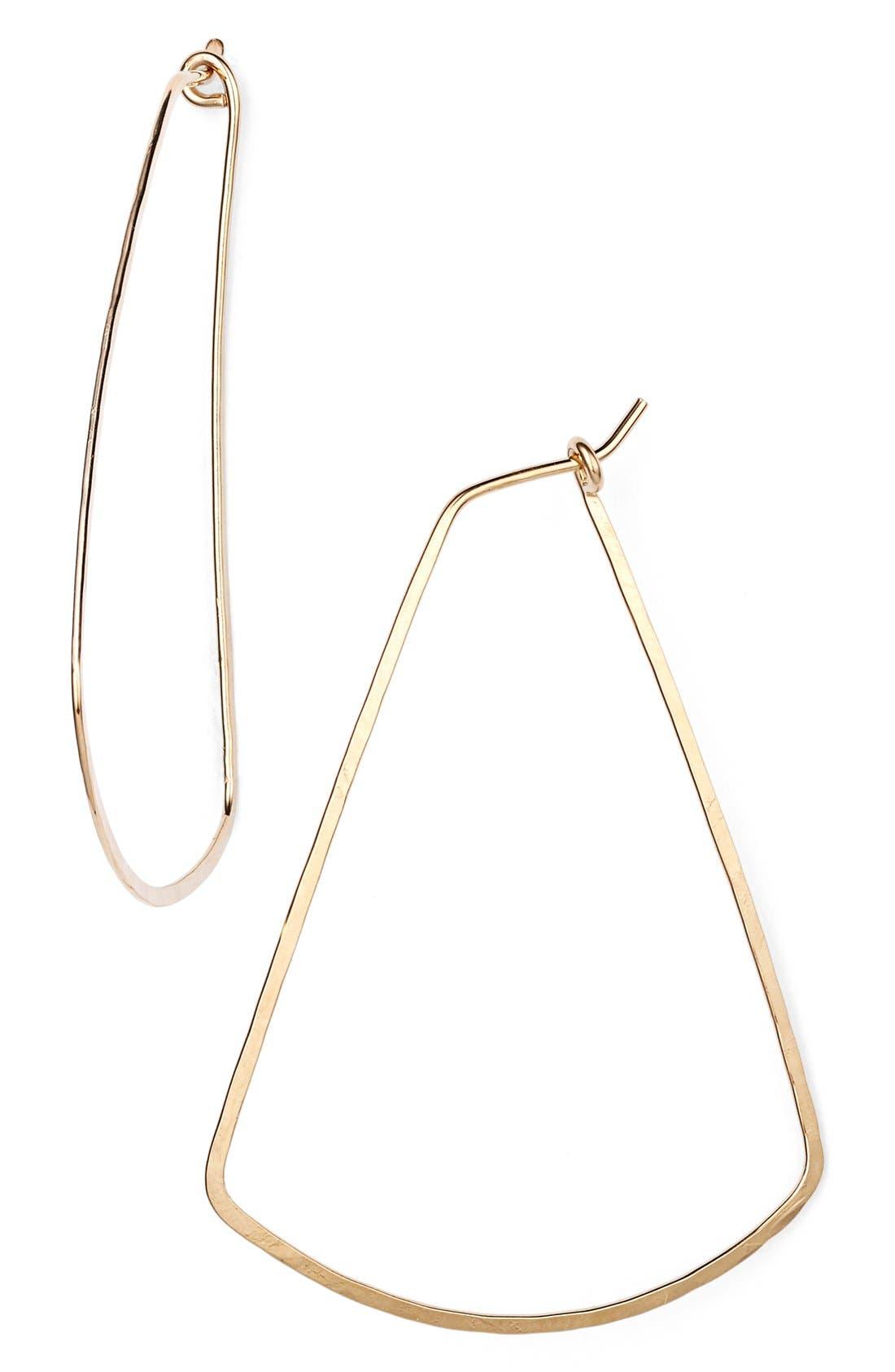 Alternate Image 1 Selected - Nashelle Ija Triangle Hoop Earrings