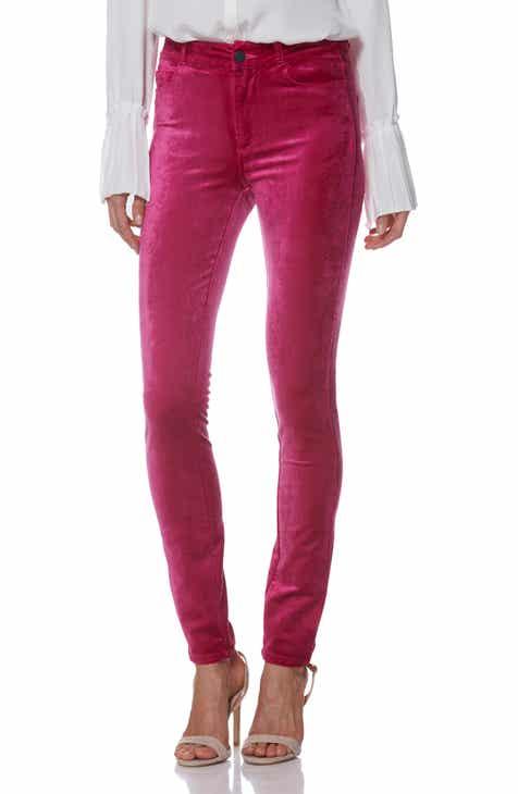4cc330b1f94 PAIGE Hoxton Velvet High Waist Skinny Pants