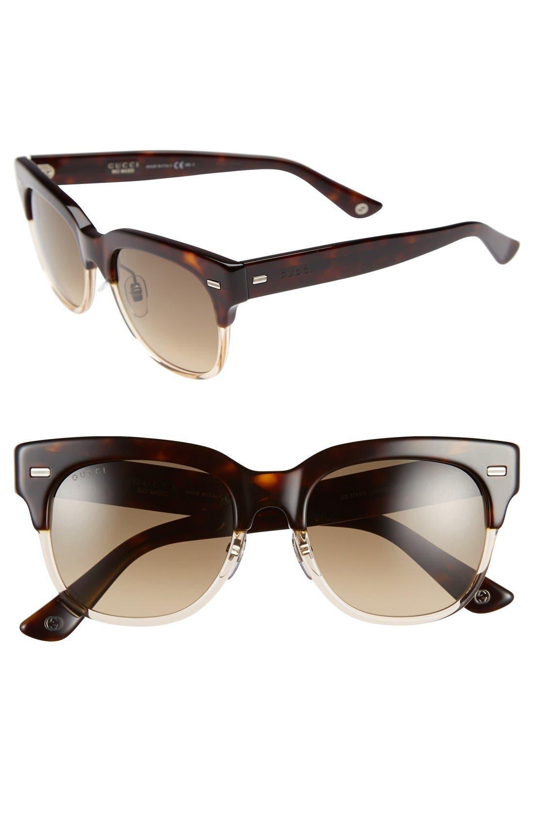 Alternate Image 1 Selected - Gucci 52mm Retro Sunglasses